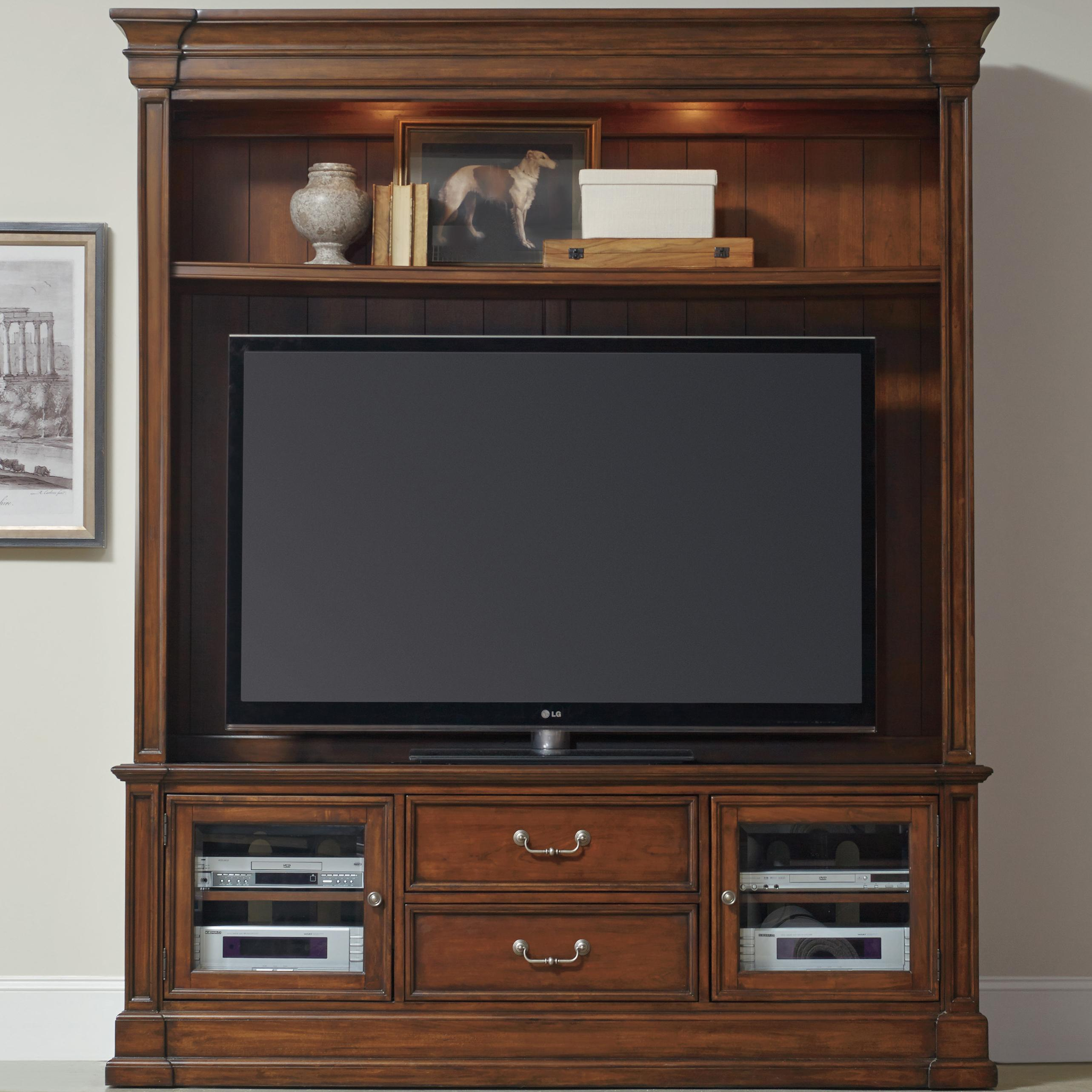 Clermont Two Piece Entertainment Group by Hooker Furniture at Baer's Furniture