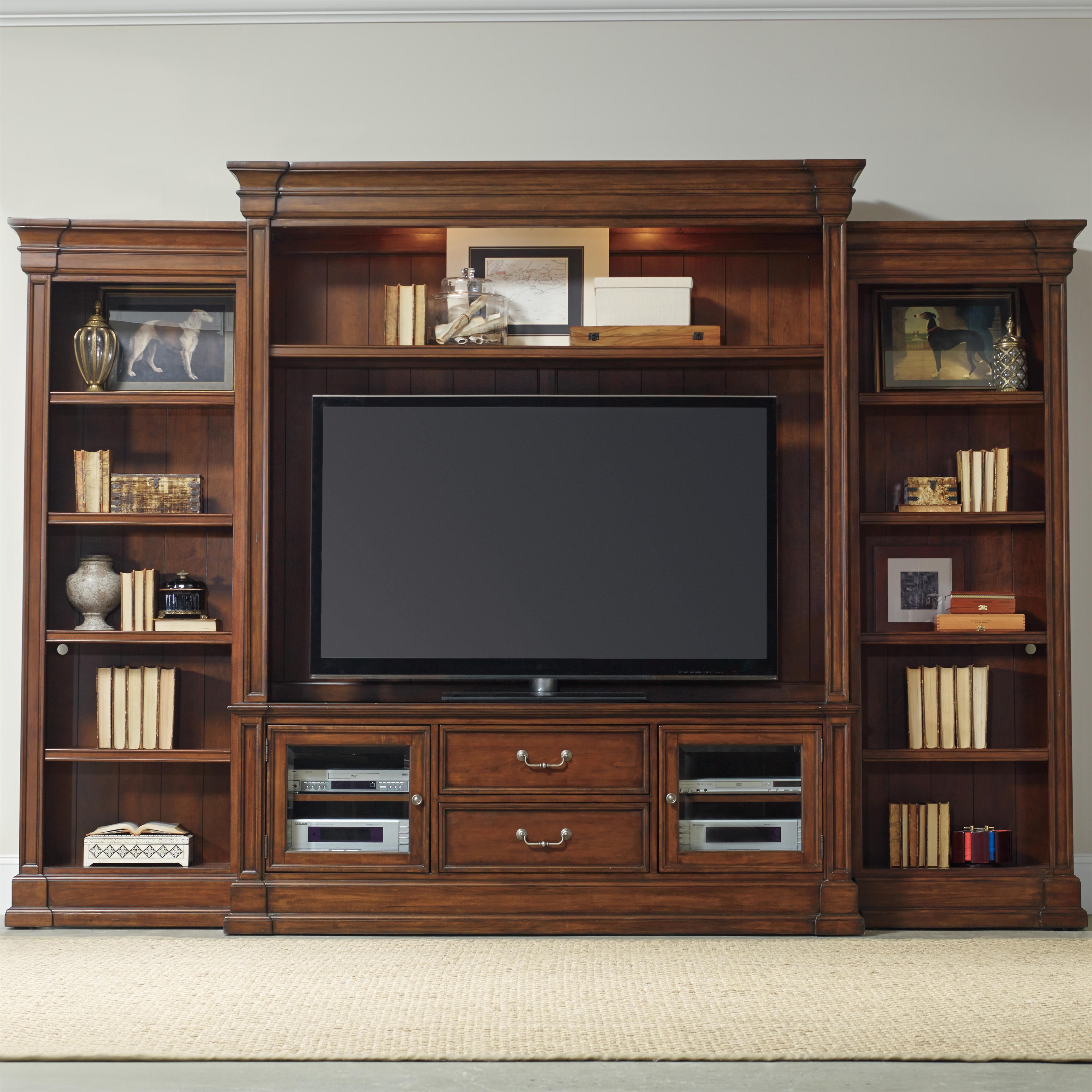 Clermont Four Piece Entertainment Group by Hooker Furniture at Miller Waldrop Furniture and Decor