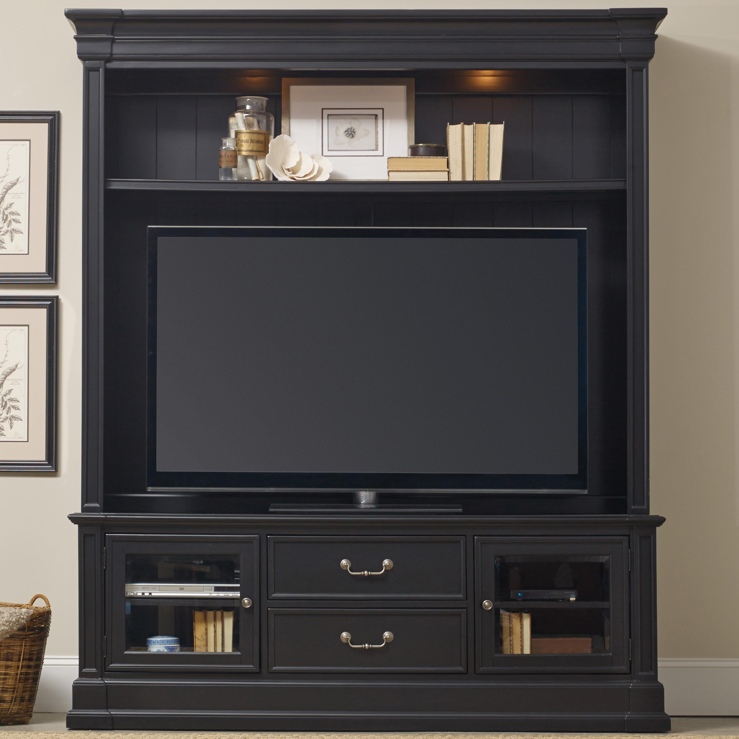 Clermont Two Piece Entertainment Group by Hooker Furniture at Miller Waldrop Furniture and Decor