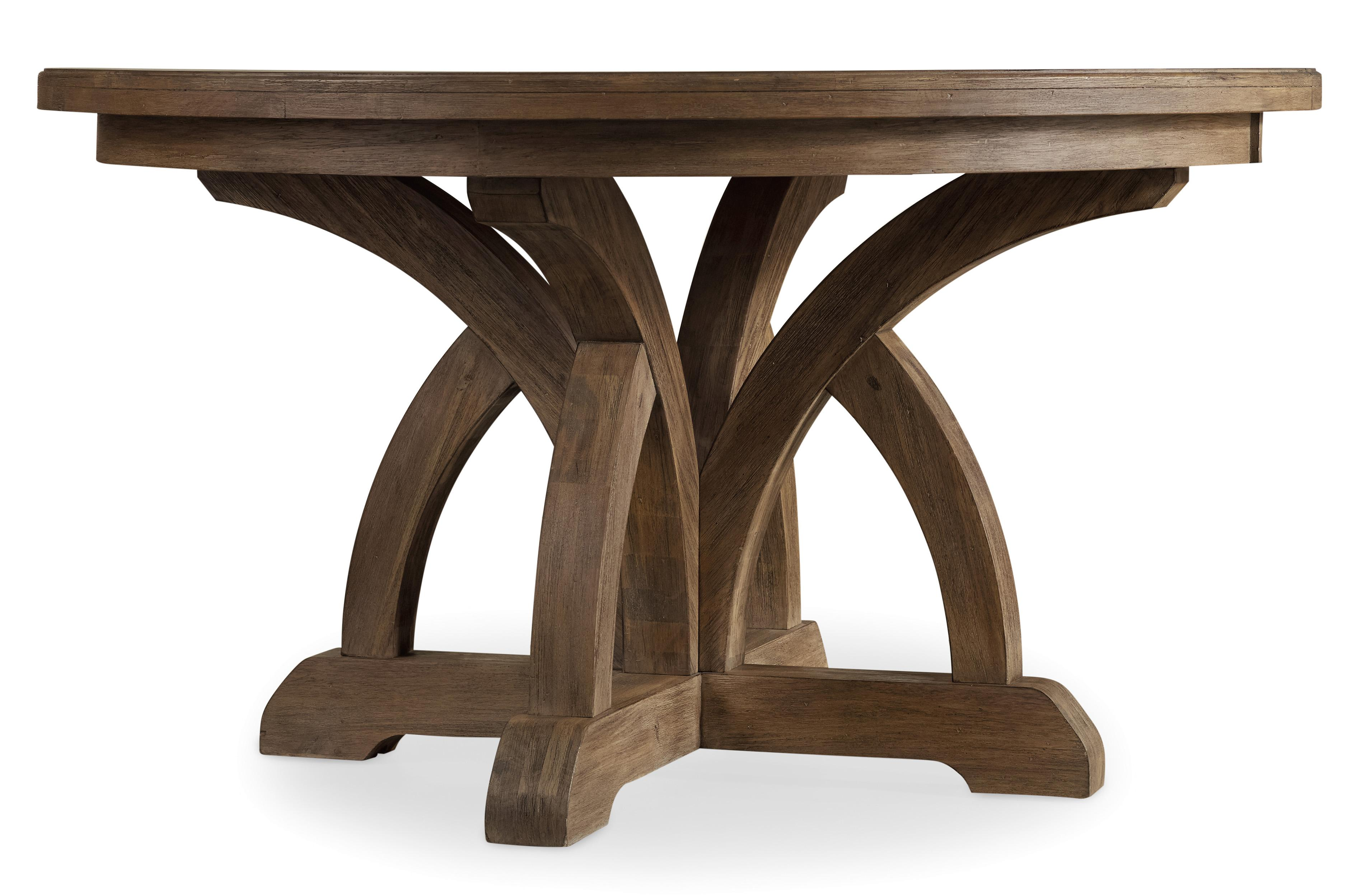 Corsica Round Dining Table by Hooker Furniture at Miller Waldrop Furniture and Decor