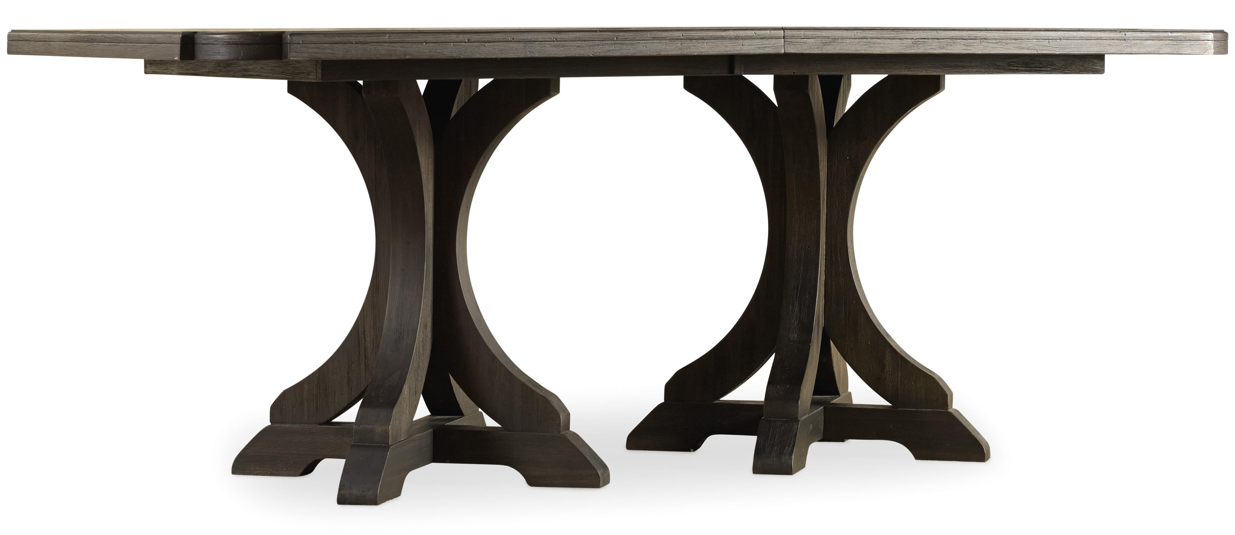 Corsica Rectangle Pedestal Dining Table by Hooker Furniture at Zak's Home