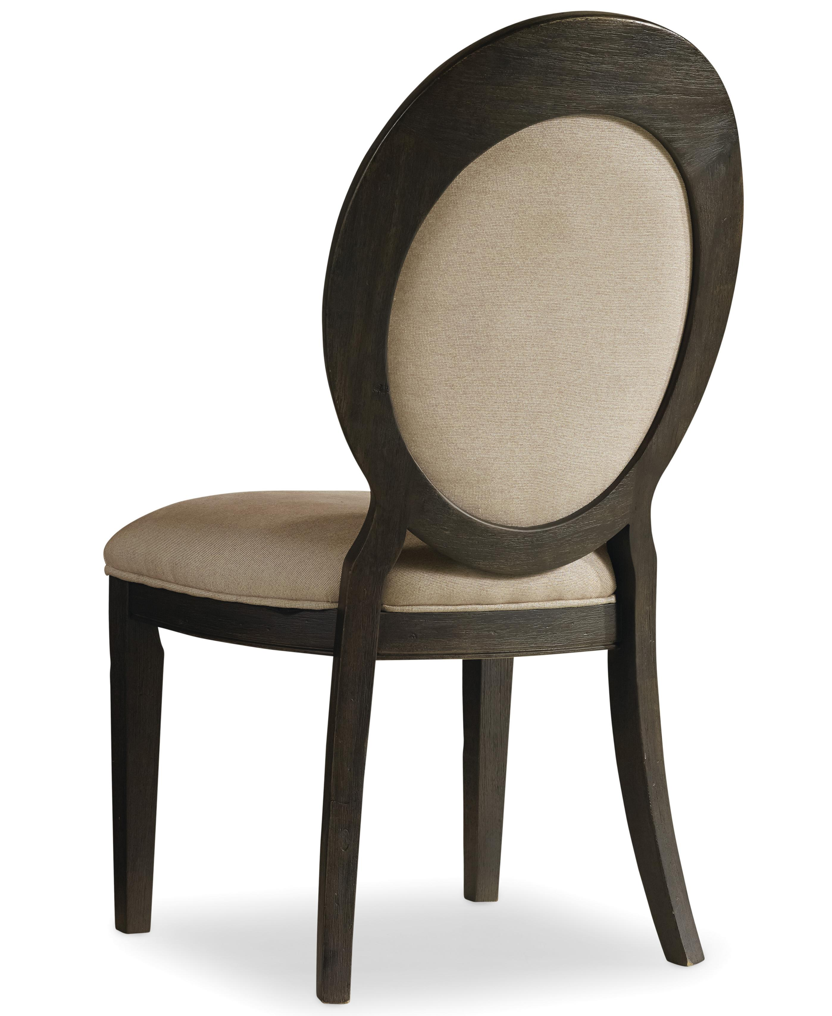 Corsica Oval Back Side Chair by Hooker Furniture at Miller Waldrop Furniture and Decor