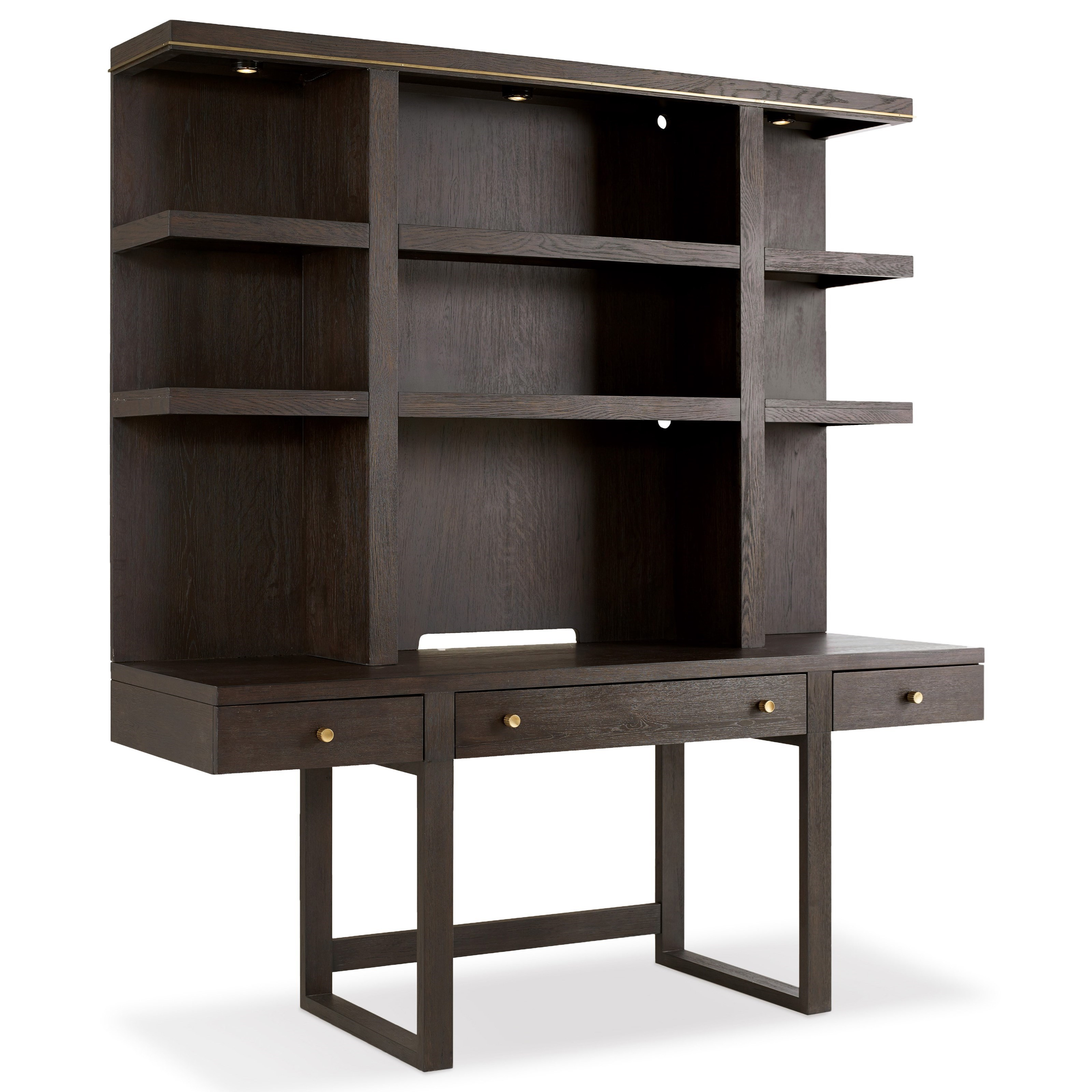 Hooker furniture curata modern wooden wall desk mueller