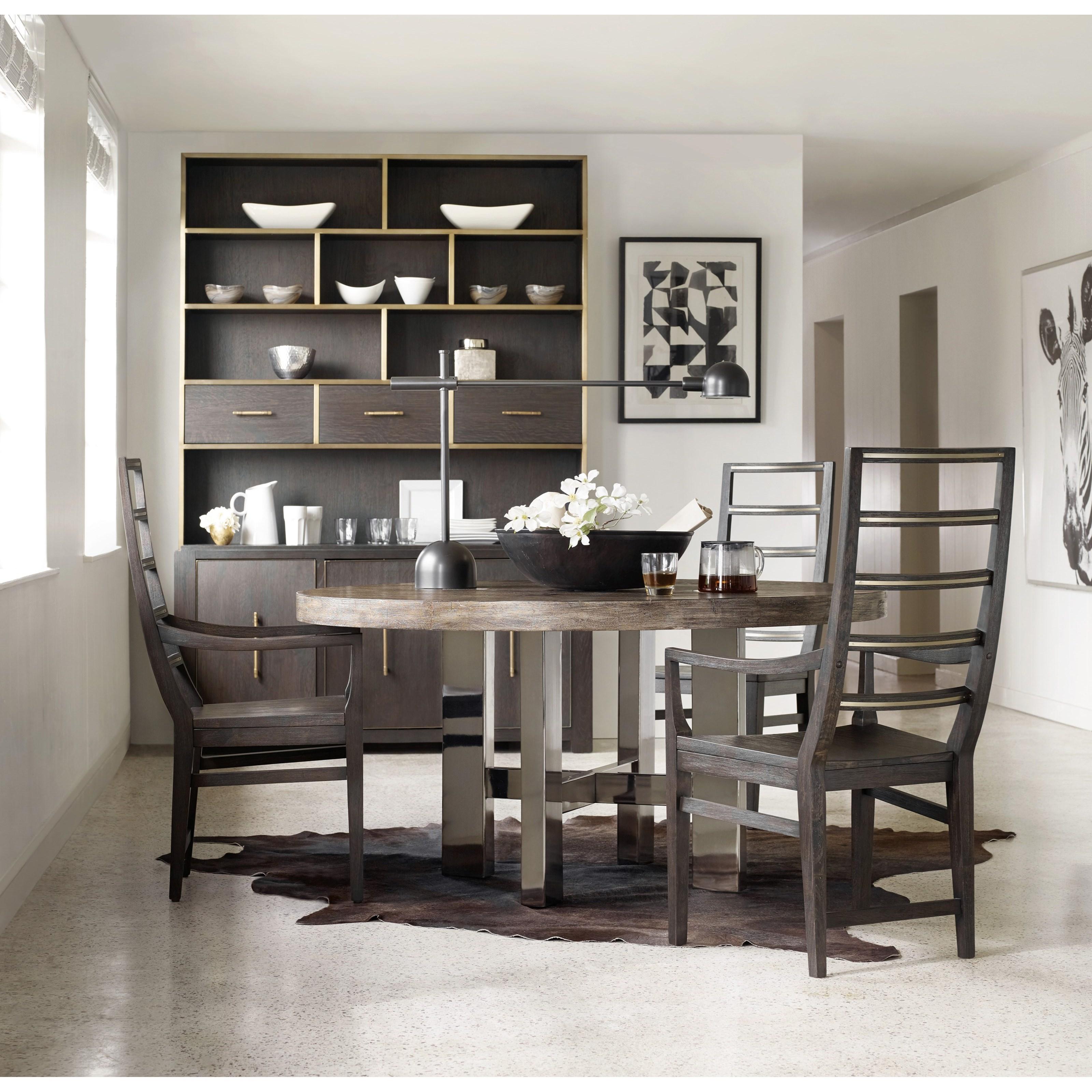 hooker furniture curata modern round dining table belfort furniture dining tables. Black Bedroom Furniture Sets. Home Design Ideas