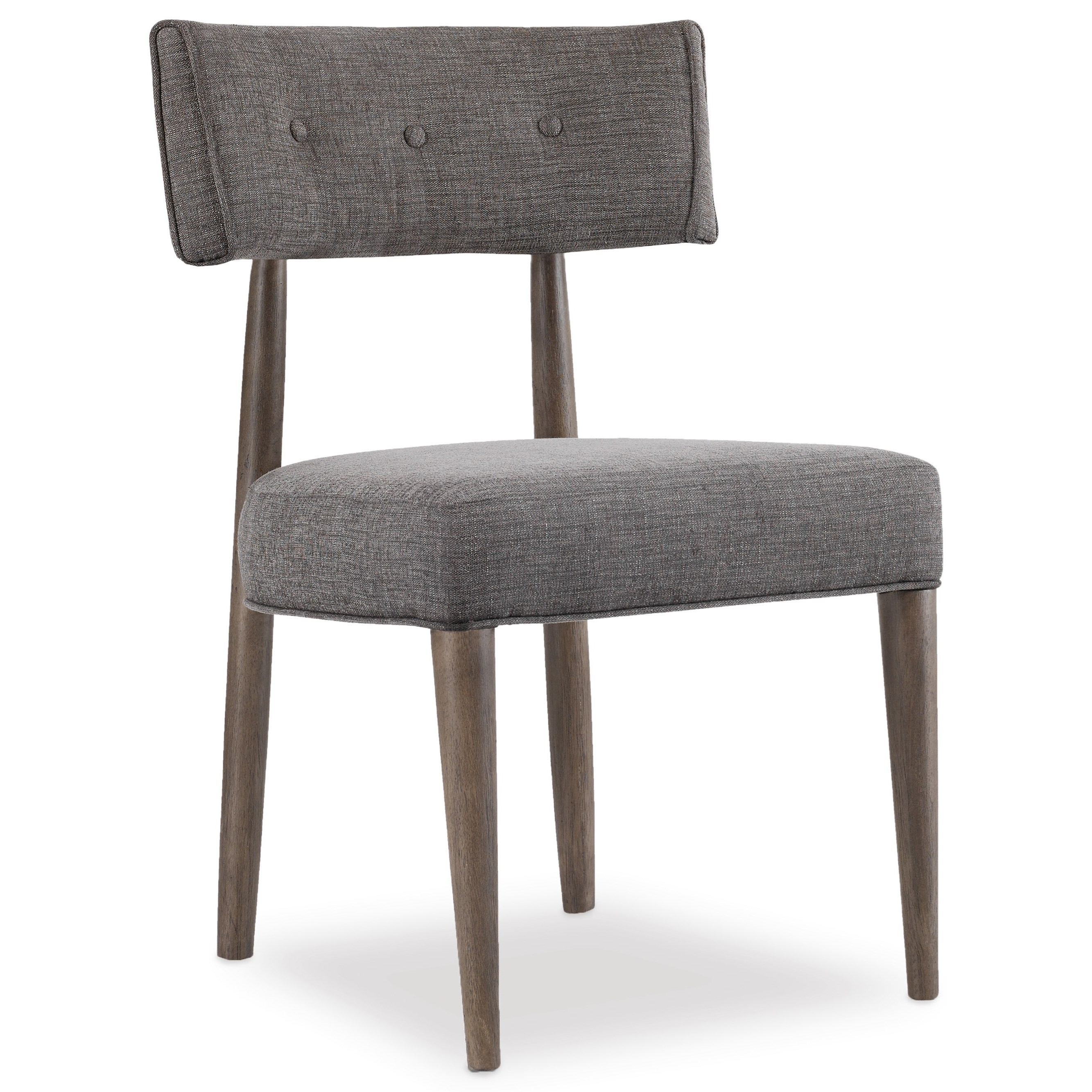 Hooker furniture curata modern upholstered chair stoney for Modern upholstered dining chairs