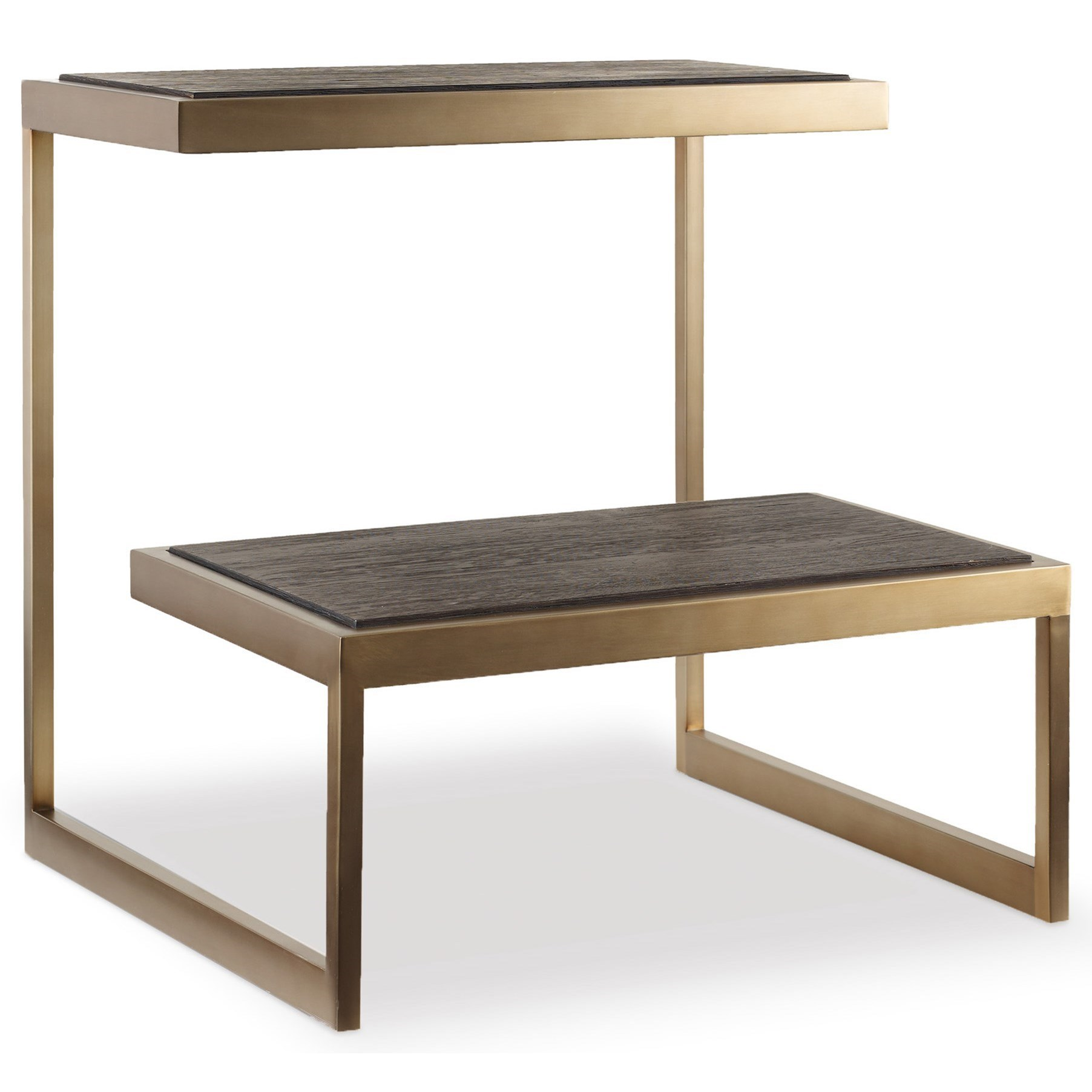 Hooker furniture curata modern end table knight for Modern accent tables