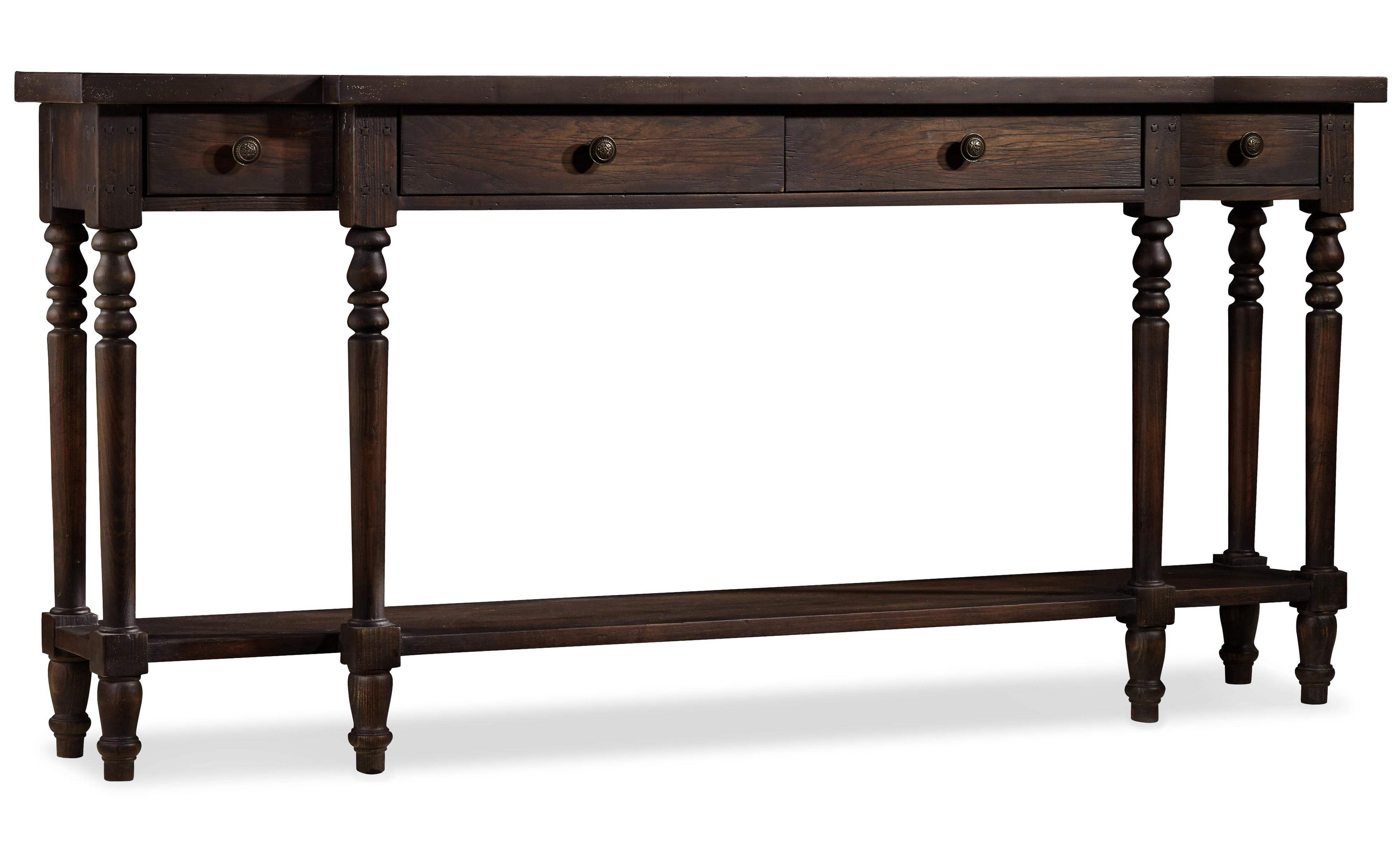 Hooker furniture davalle console table with 4 drawers for Sofa table rules