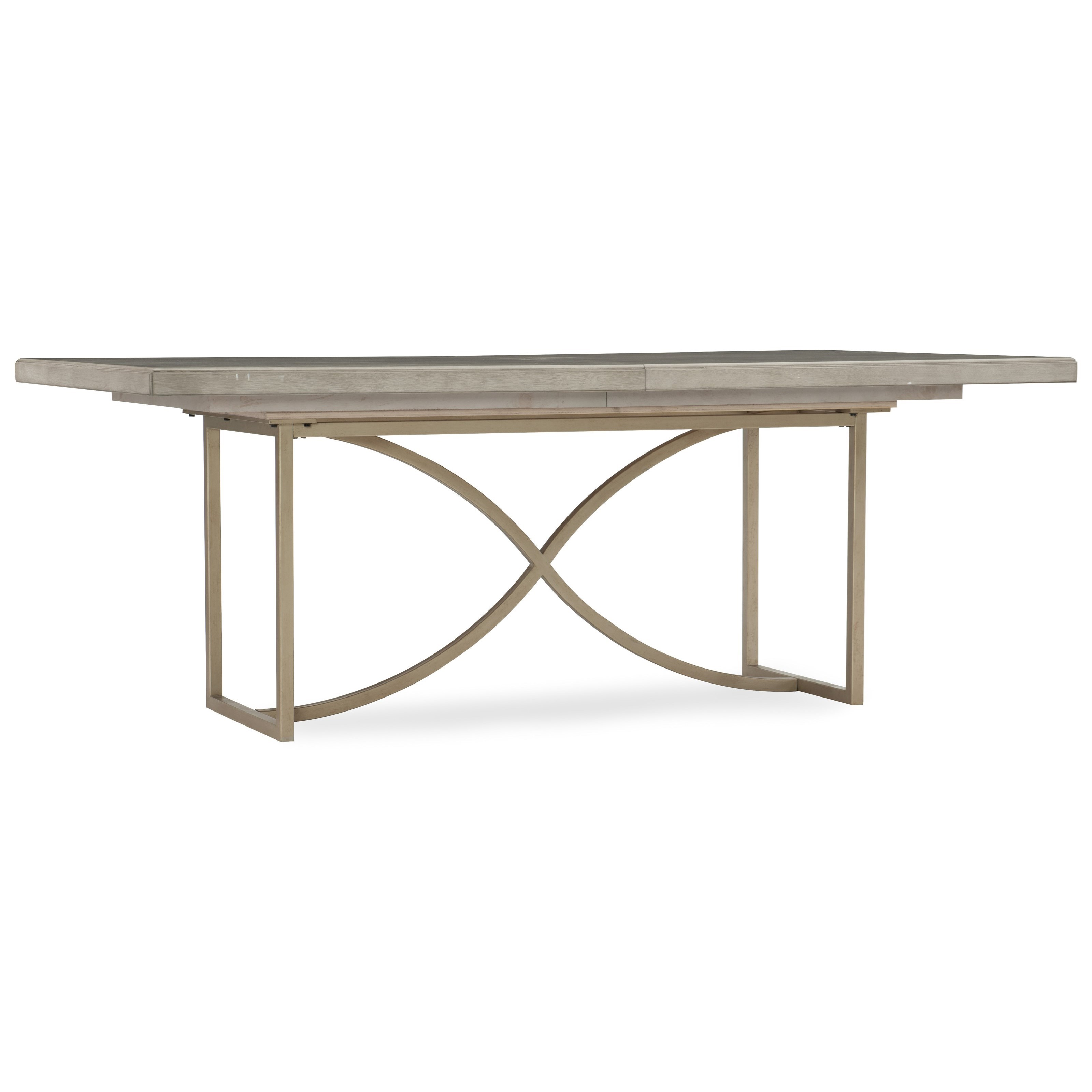 Hooker furniture elixir 80in rectangular dining table with for Rectangular dining room tables with leaves