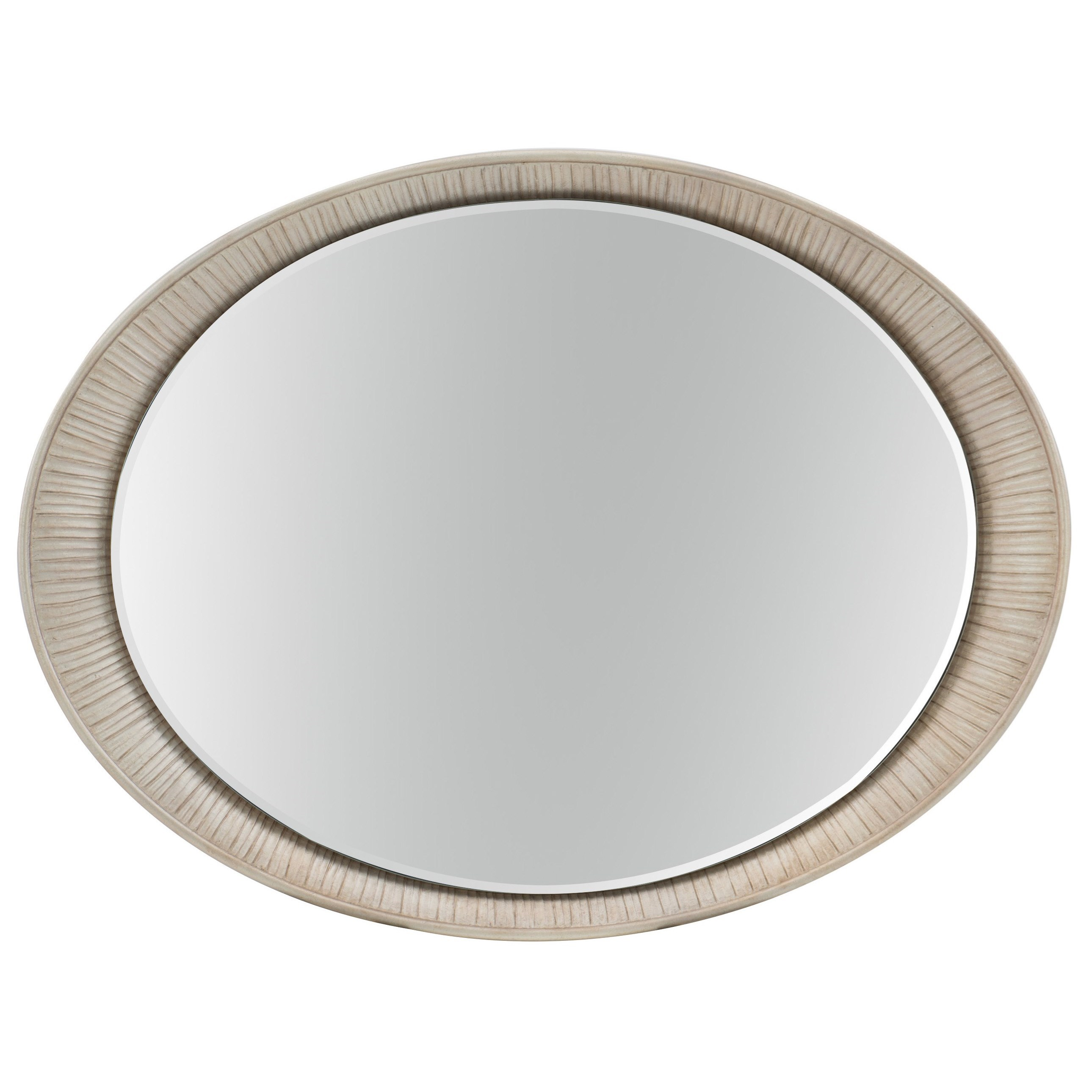 Hooker furniture elixir oval accent mirror with carved for Accent wall mirrors