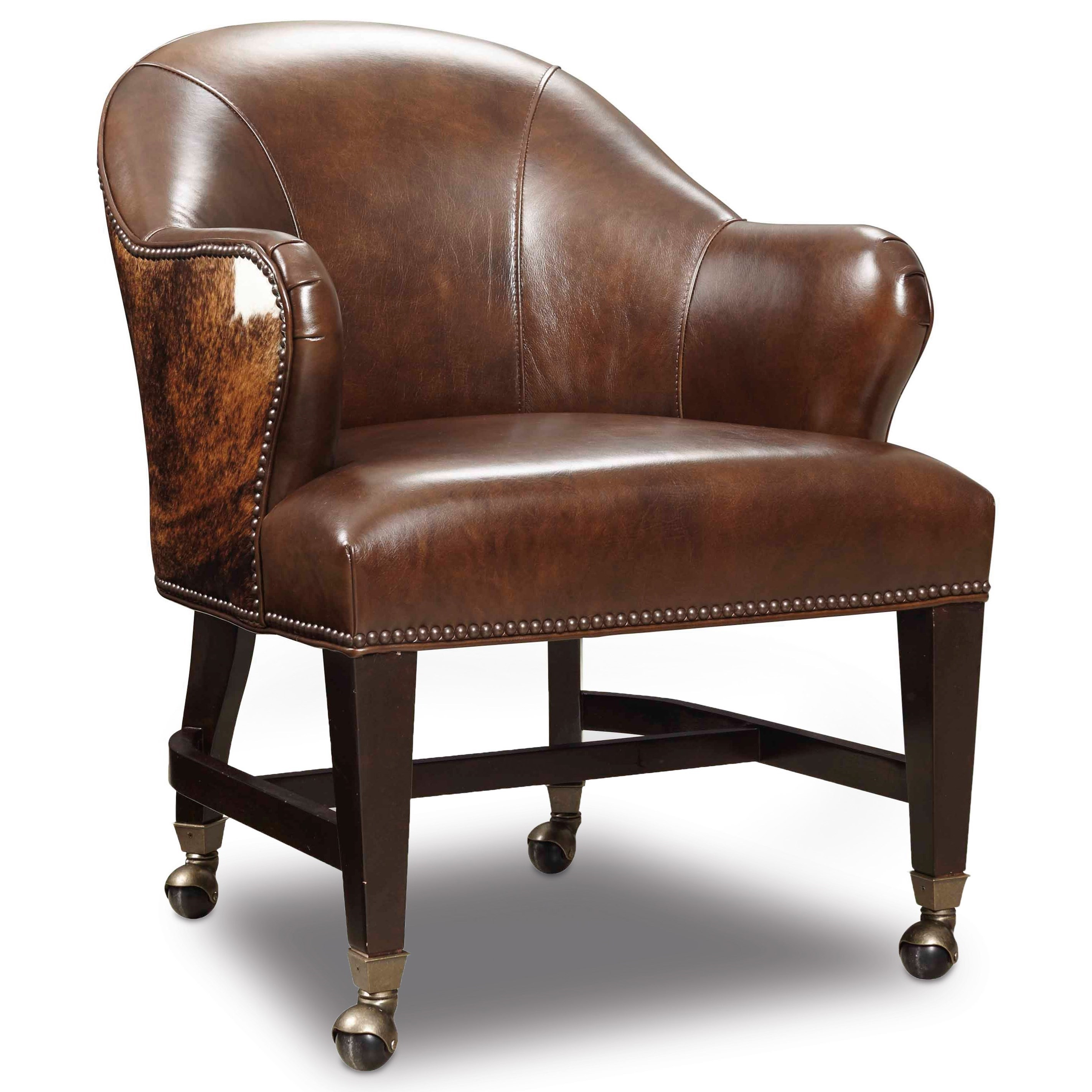 Hooker Furniture Game Chairs Leather Hair On Hide Queen