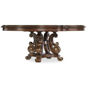 hooker furniture grand palais 72 inch round pedestal dining table