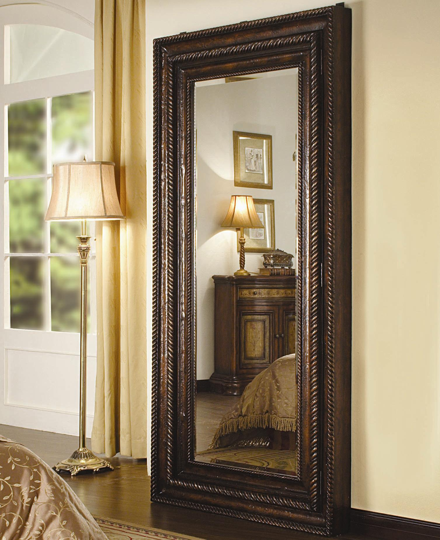 With Full Length Wall Mirror Storage : ... Seven Seas Floor Mirror with Jewelry Storage - Item Number: 500-50-656