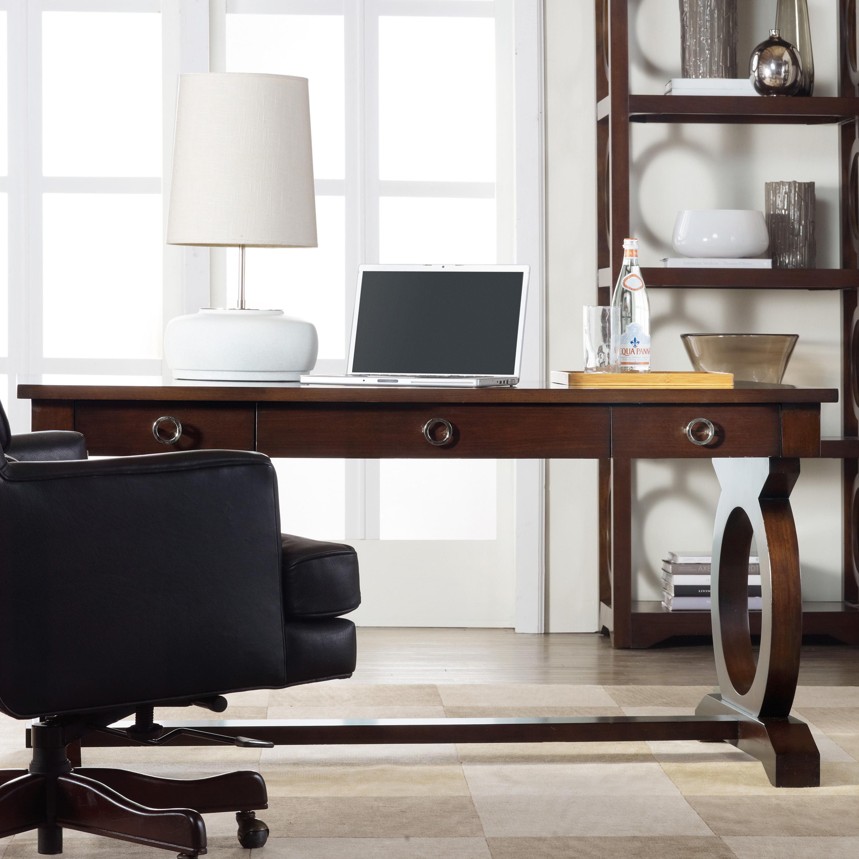 Hooker Furniture Kinsey Contemporary Writing Desk With Drop Front Keyboard Drawer And Open
