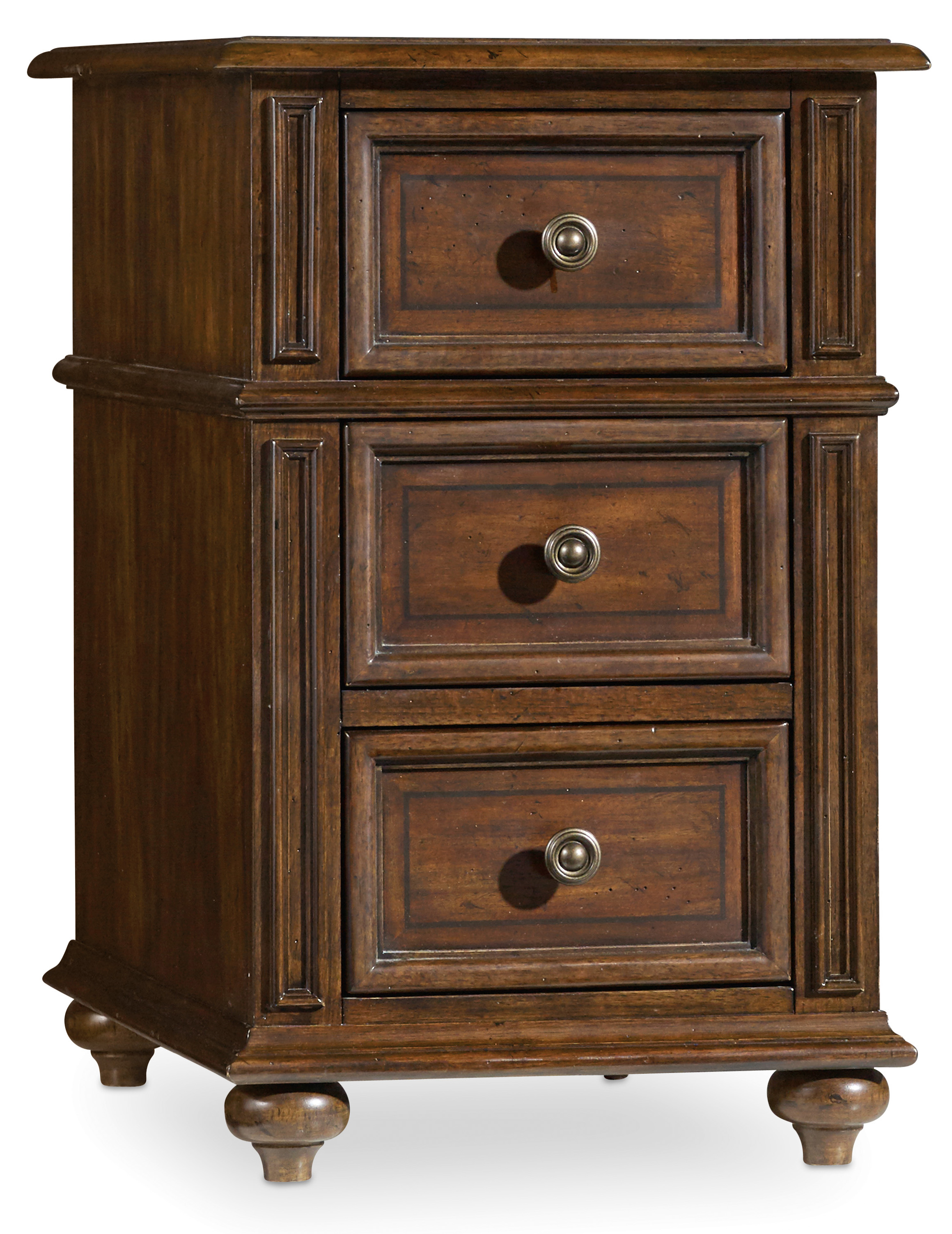 Hooker Furniture Leesburg Chairside Chest with 3 Drawers