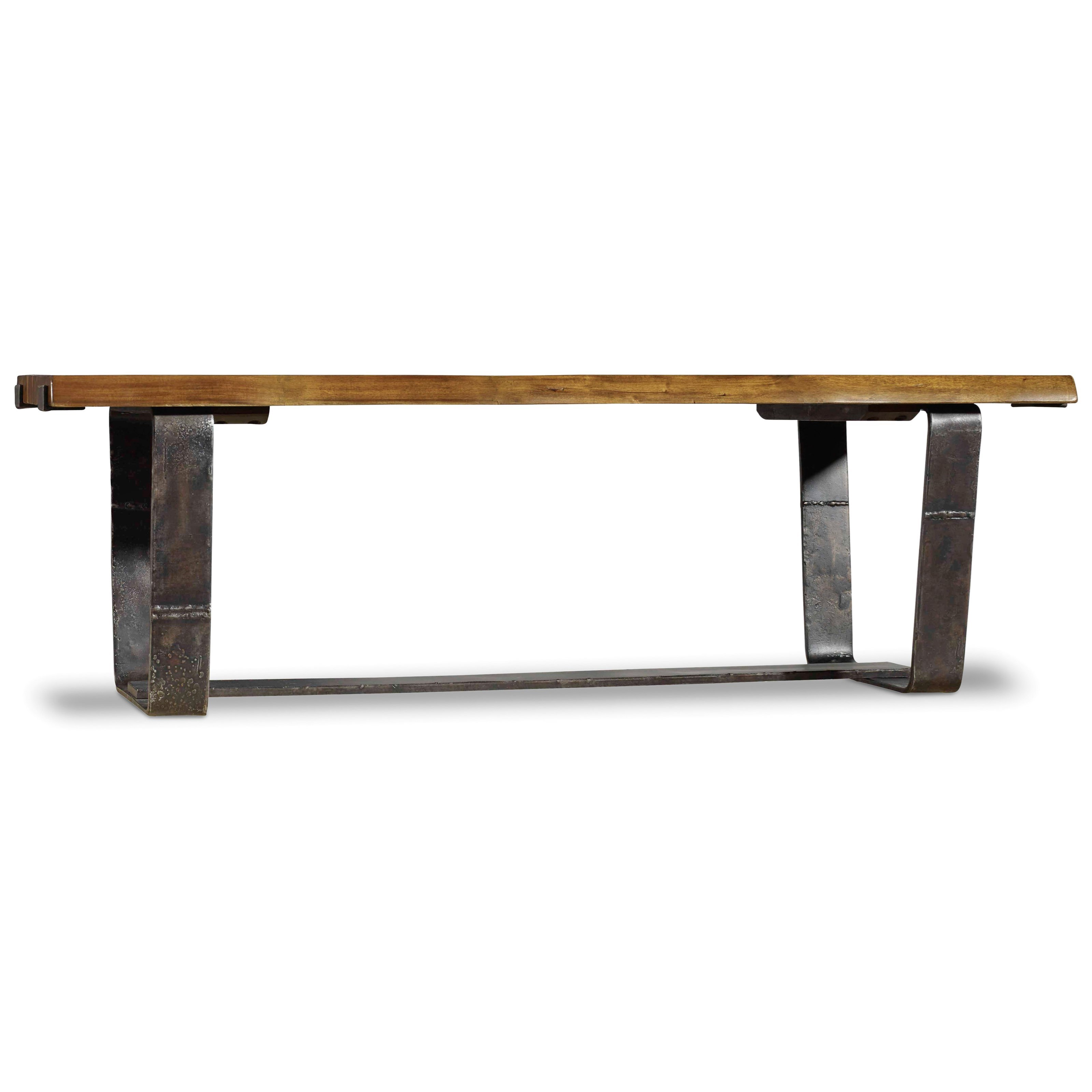 Hooker Furniture Live Edge Rustic Cocktail Table Reeds Furniture Cocktail Coffee Tables