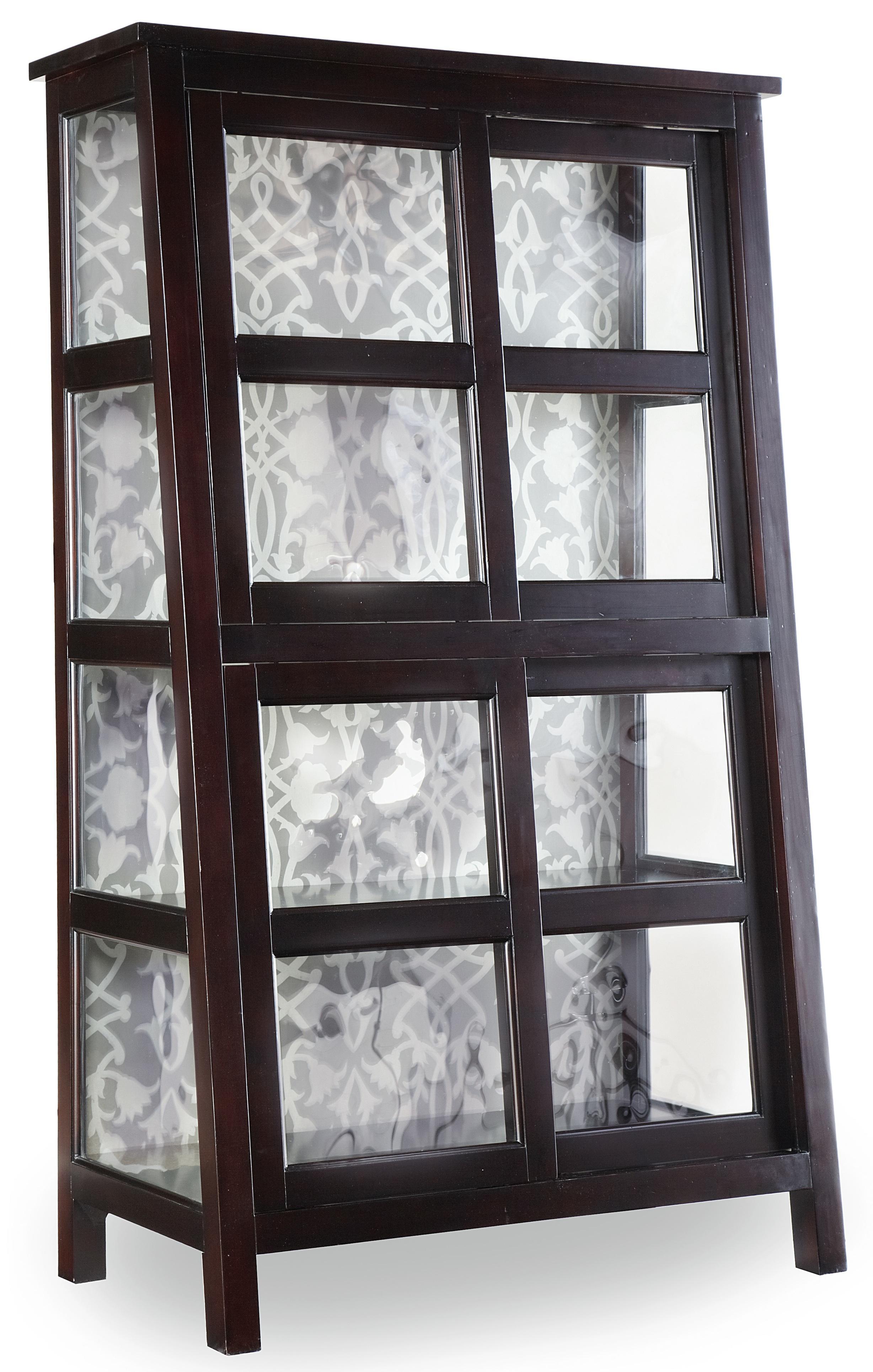 Melange Angle Design Curio by Hooker Furniture at Stuckey Furniture