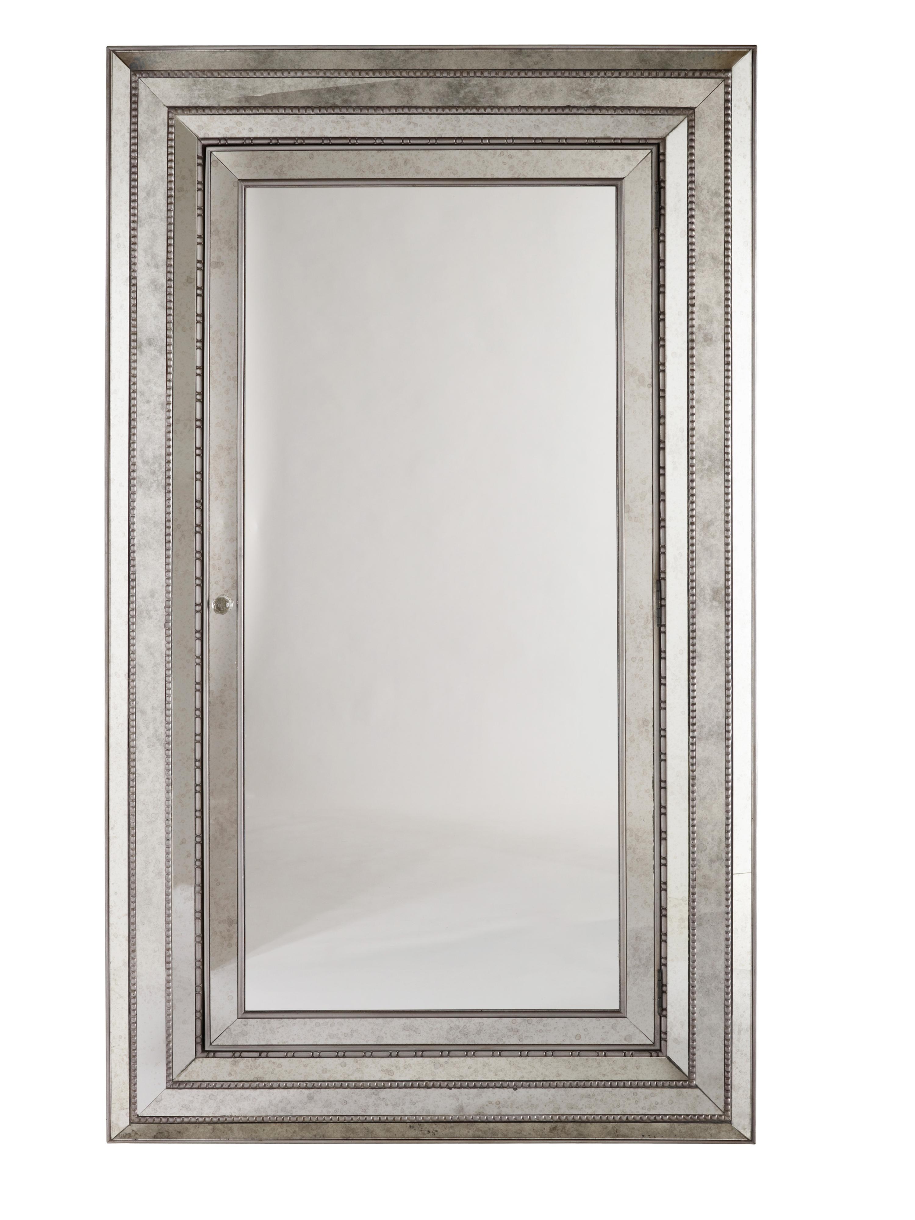 Melange Glamour Floor Mirror by Hooker Furniture at Miller Waldrop Furniture and Decor