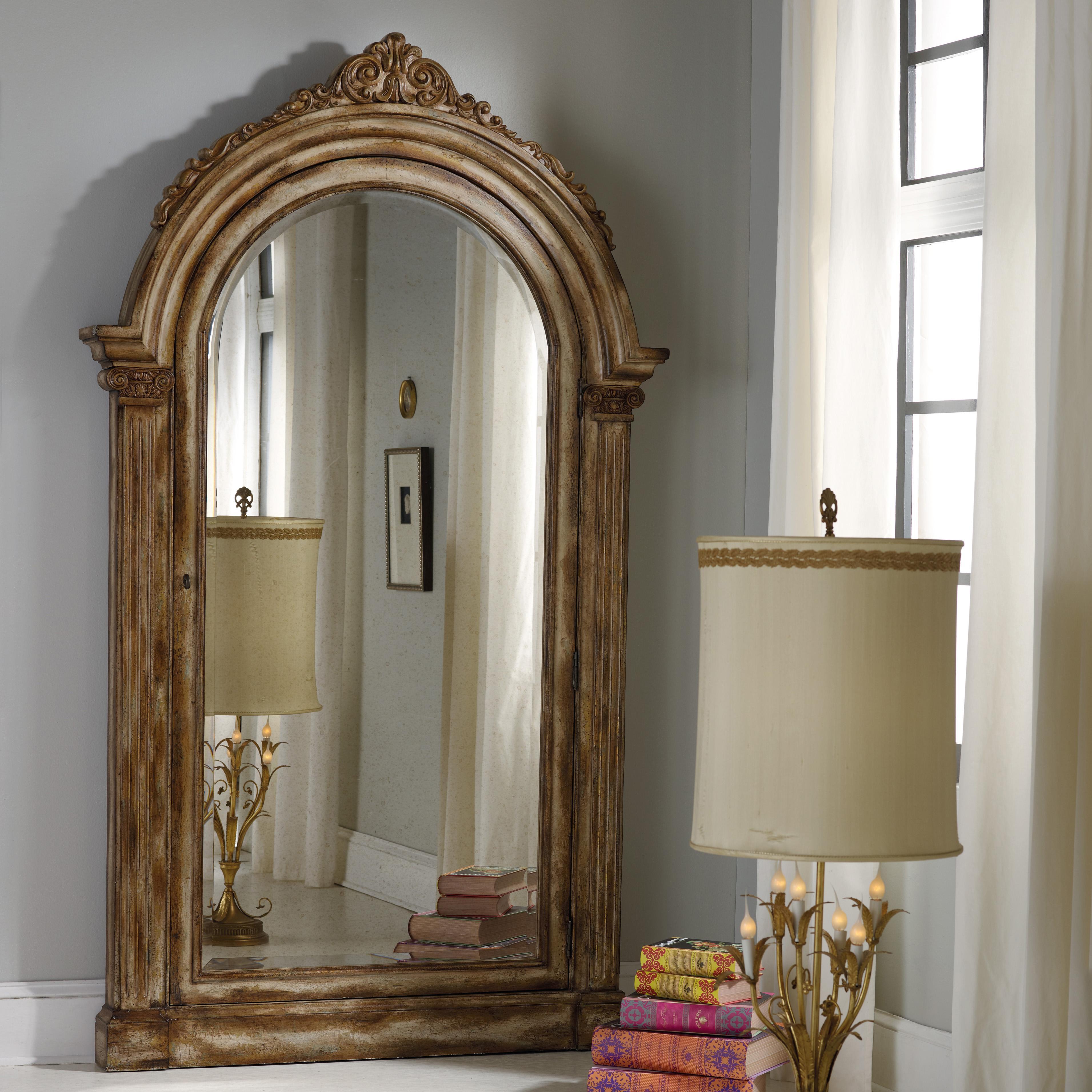 Melange Vera Floor Mirror by Hooker Furniture at Zak's Home