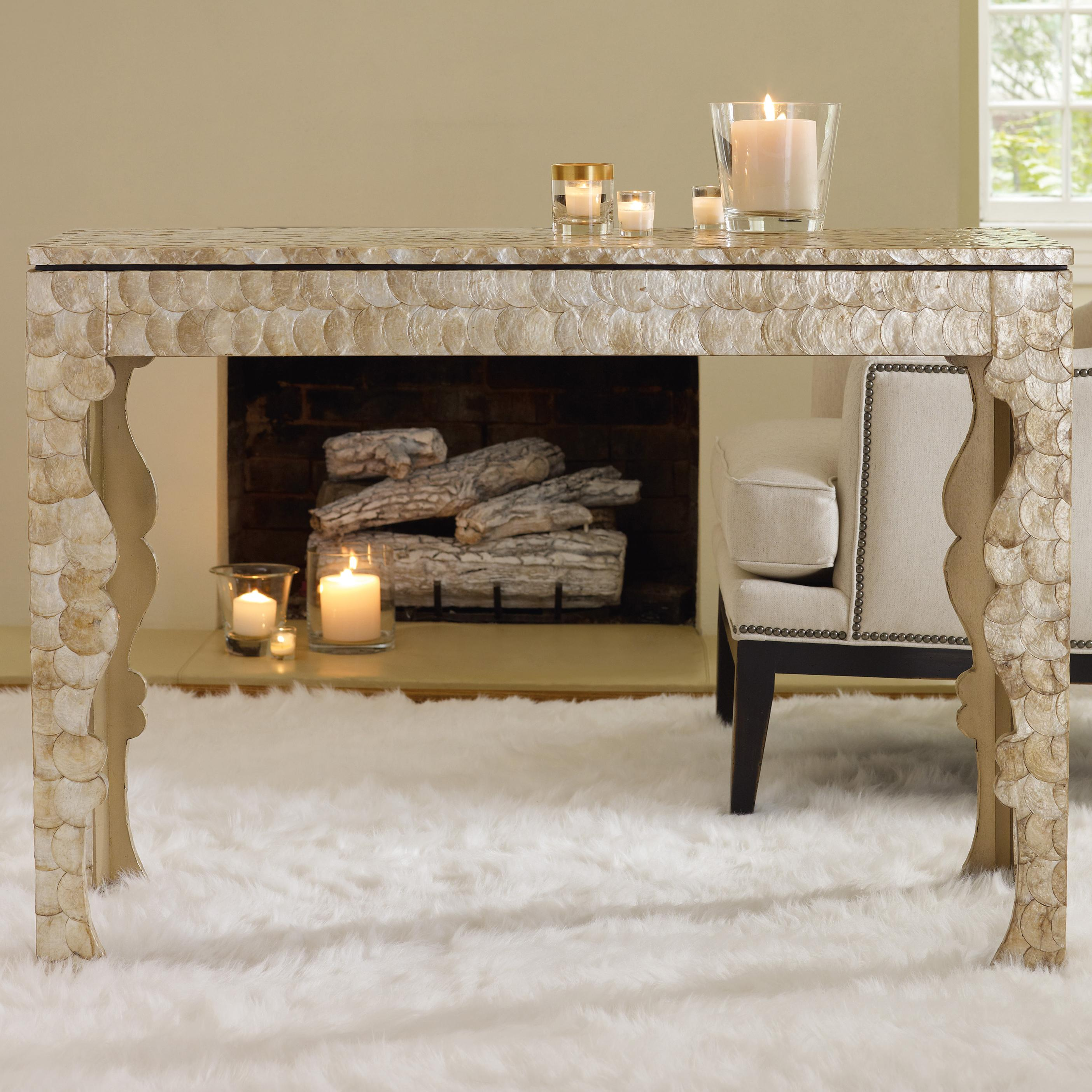 Melange Capiz Shell Console by Hooker Furniture at Zak's Home