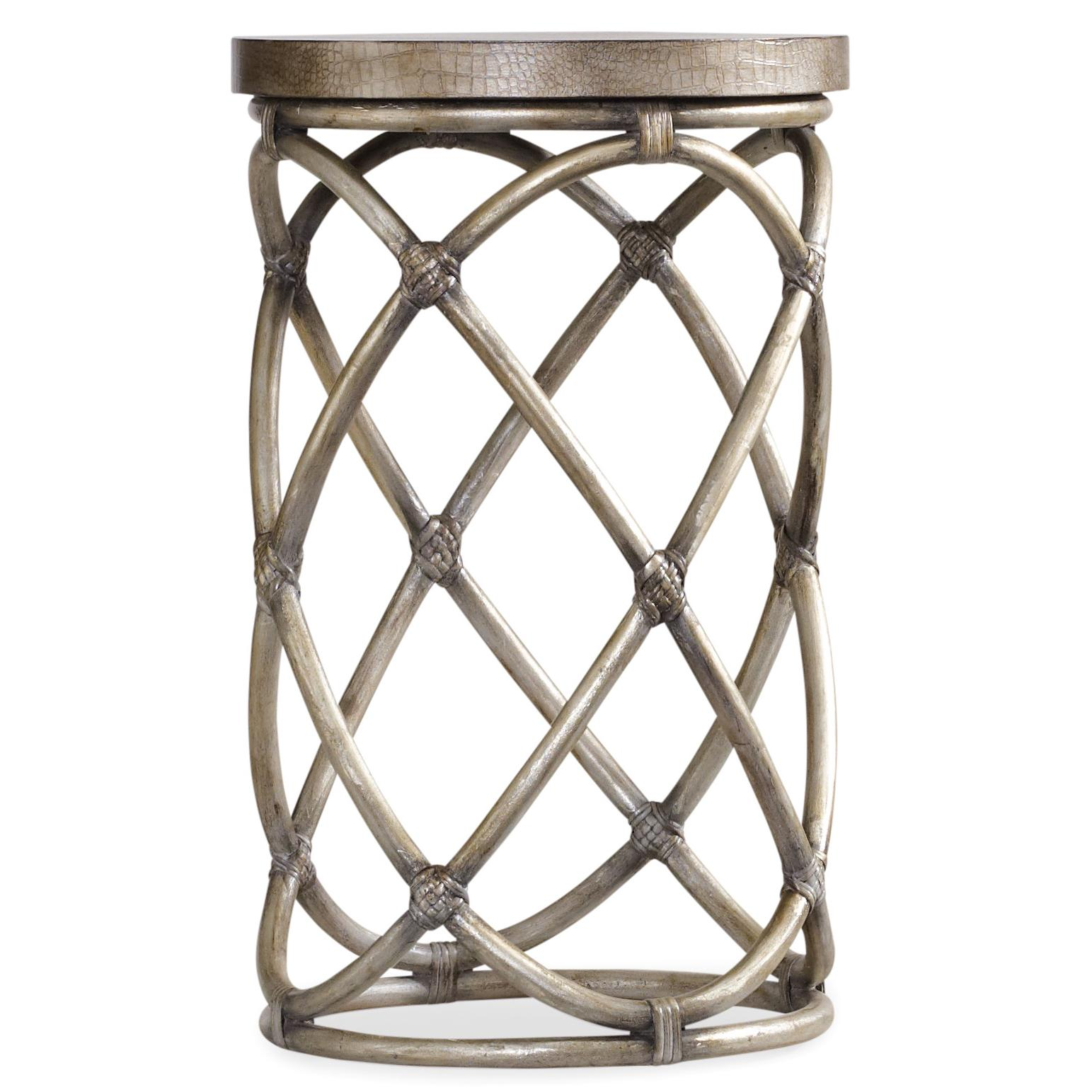 Melange Rattan Accent Table by Hooker Furniture at Zak's Home