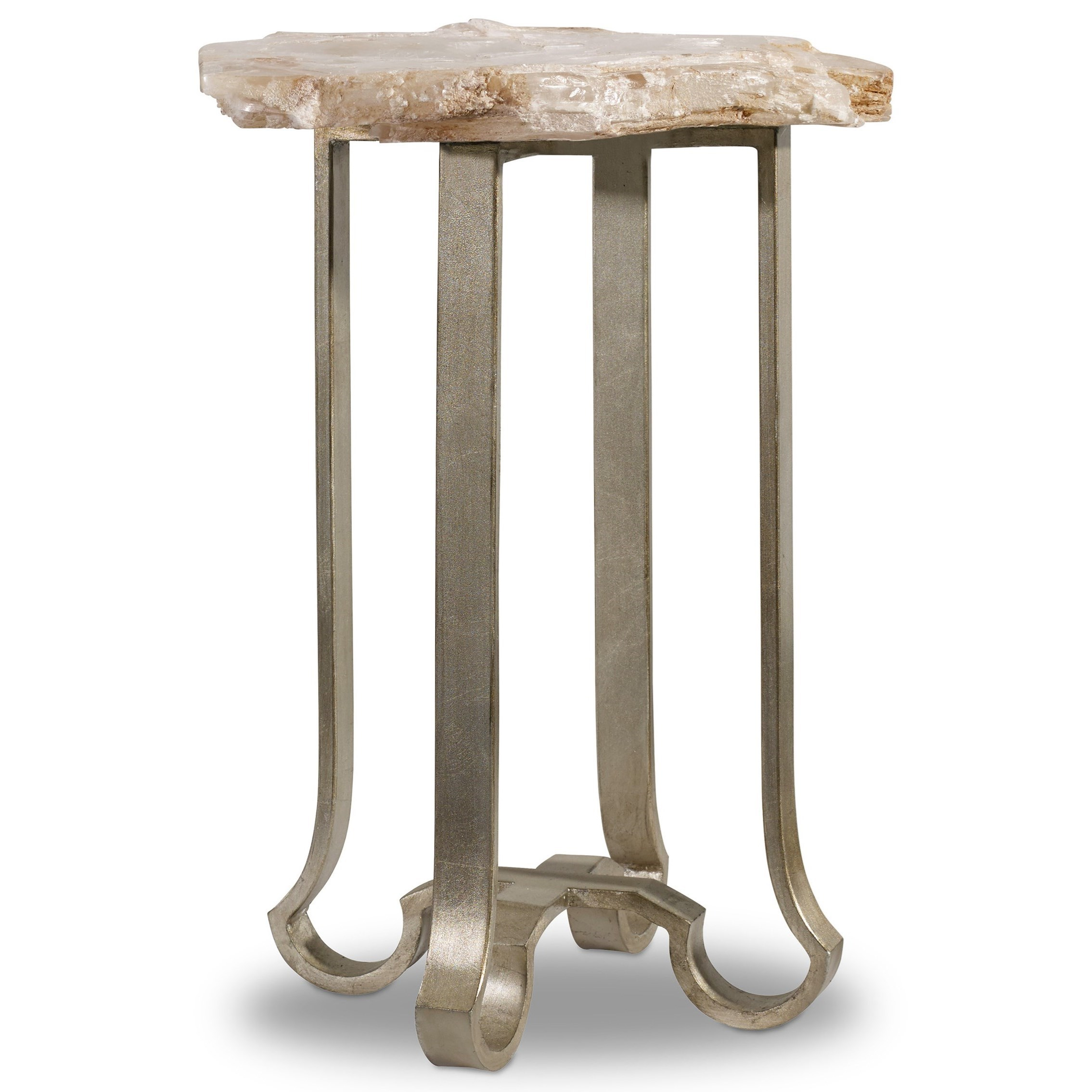 Melange End Table with Stone Top by Hooker Furniture at Zak's Home