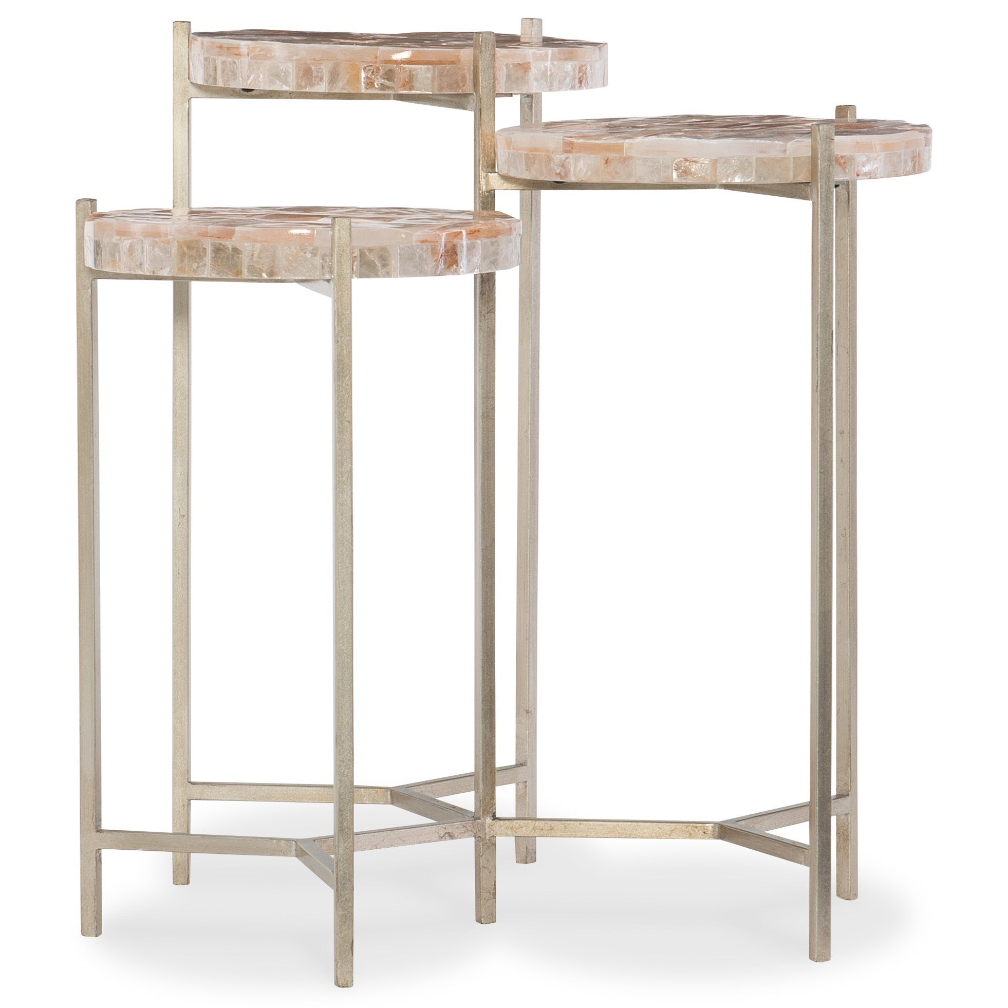 Melange Trilogy Three Top Lamp Table by Hooker Furniture at Zak's Home
