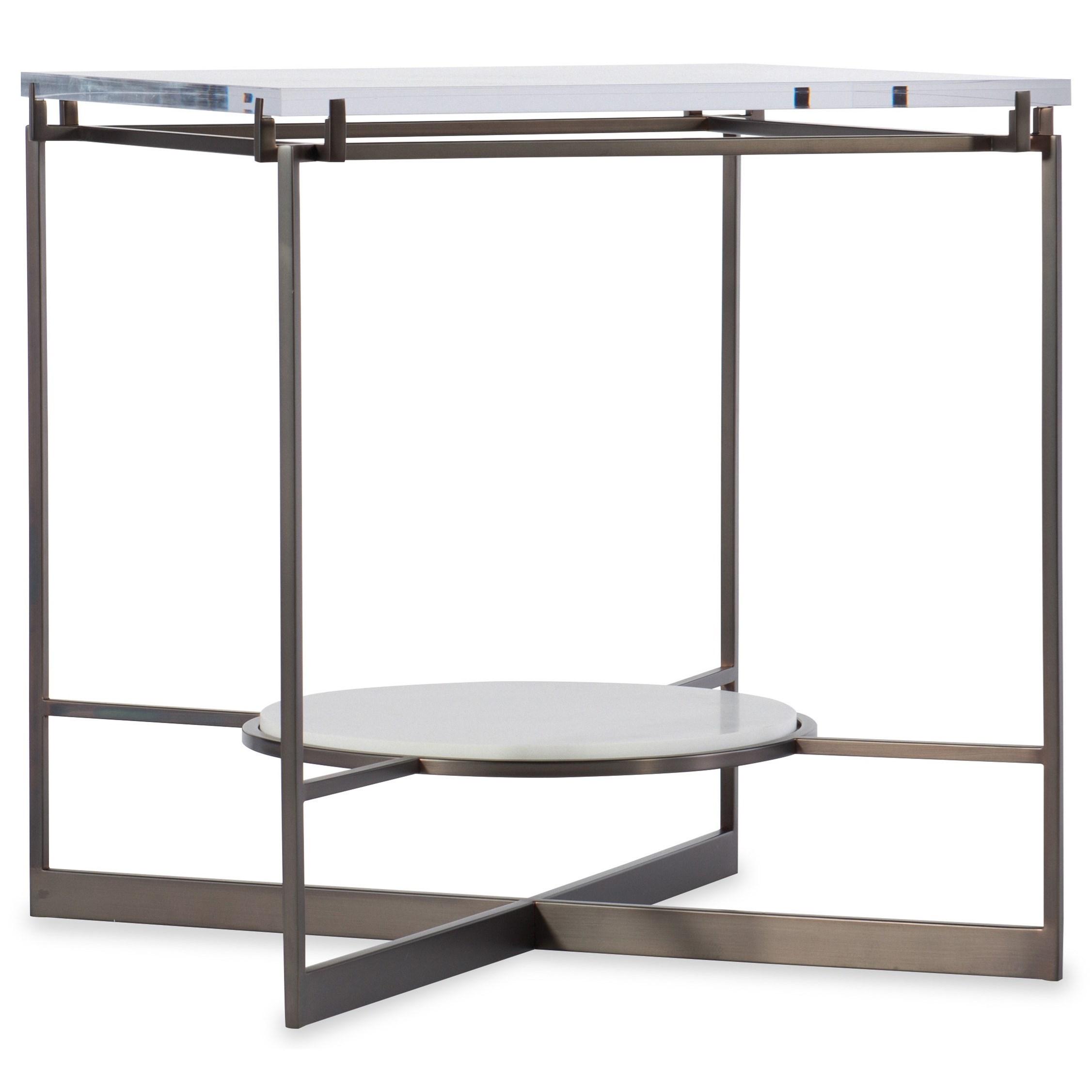 Melange Melange Iva End Table Top by Hooker Furniture at Zak's Home