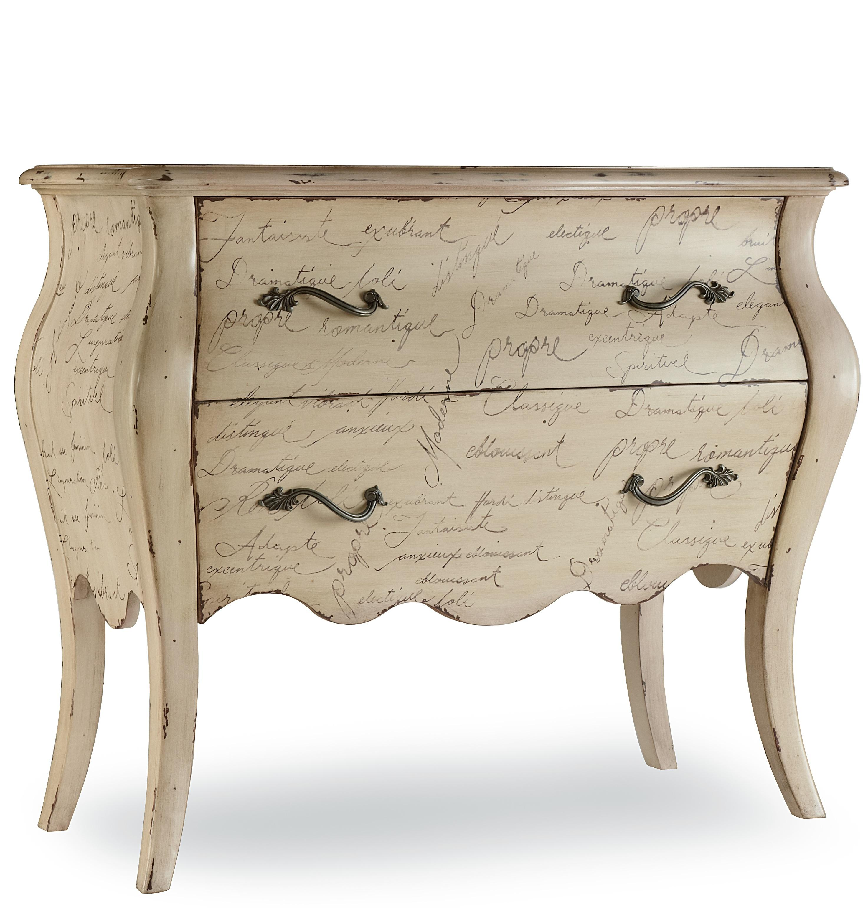 Melange L'Inspiration Script Chest by Hooker Furniture at Zak's Home