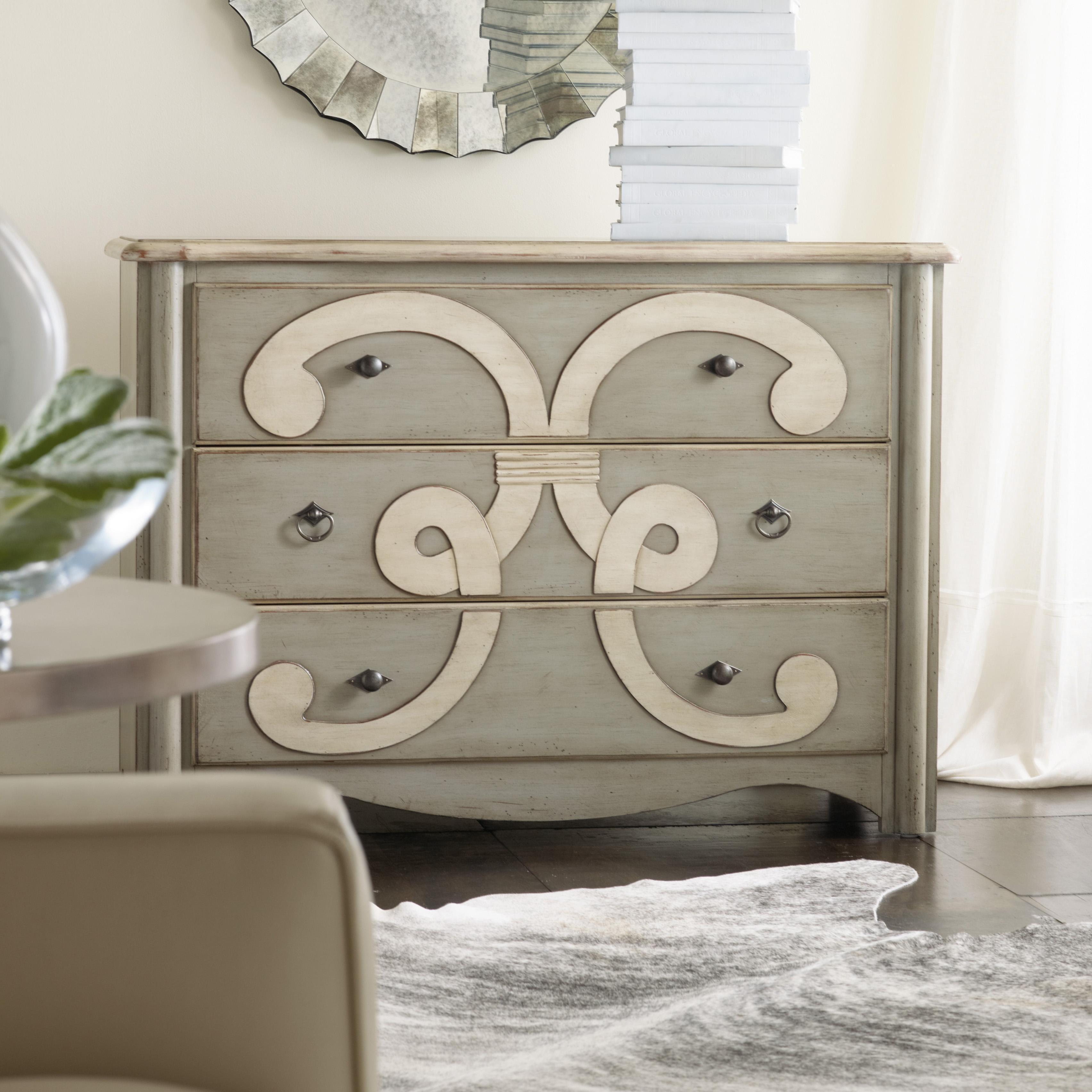 Melange Classique Scroll Chest by Hooker Furniture at Darvin Furniture
