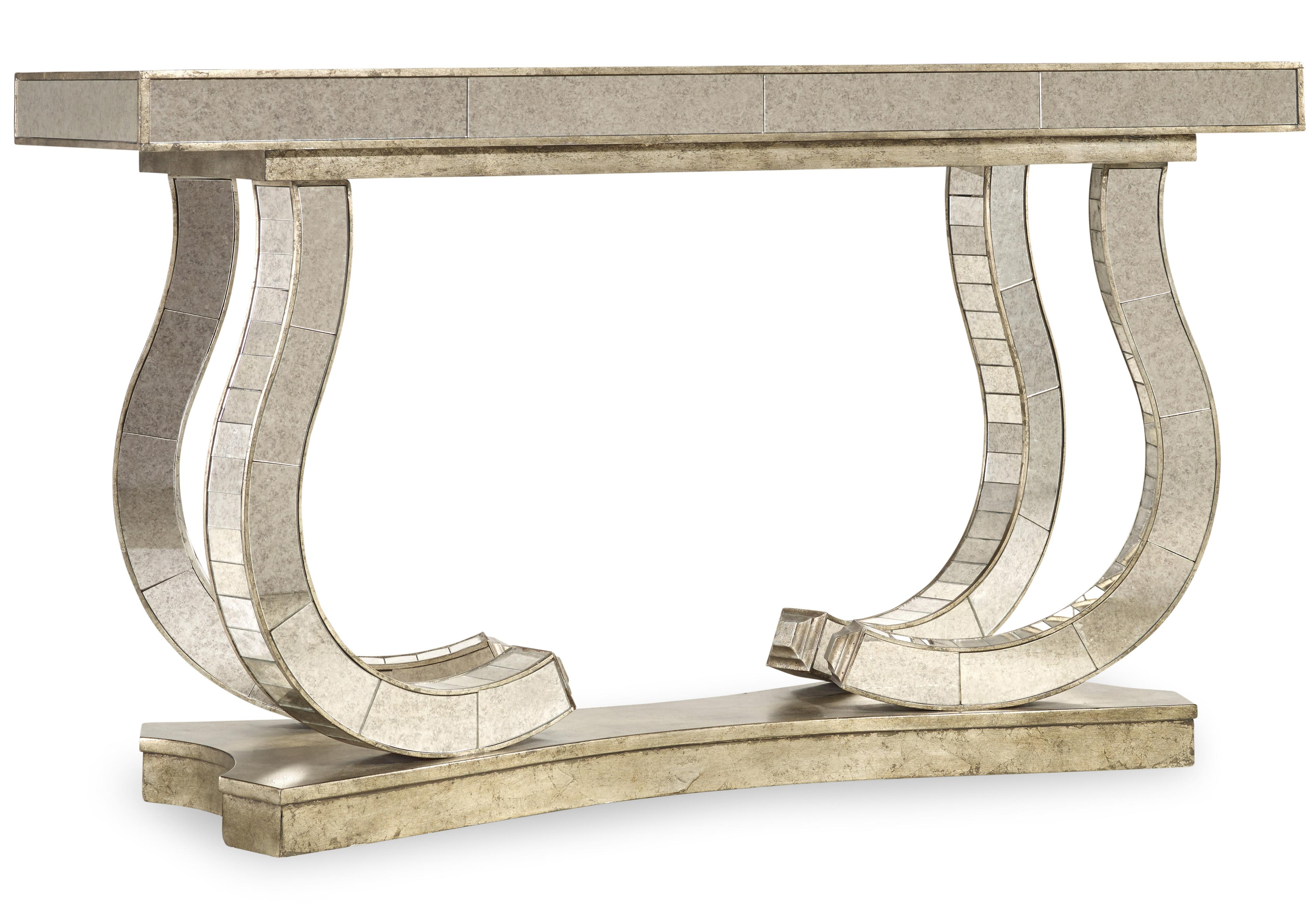 Melange Show Stopper Mirrored Console by Hooker Furniture at Zak's Home