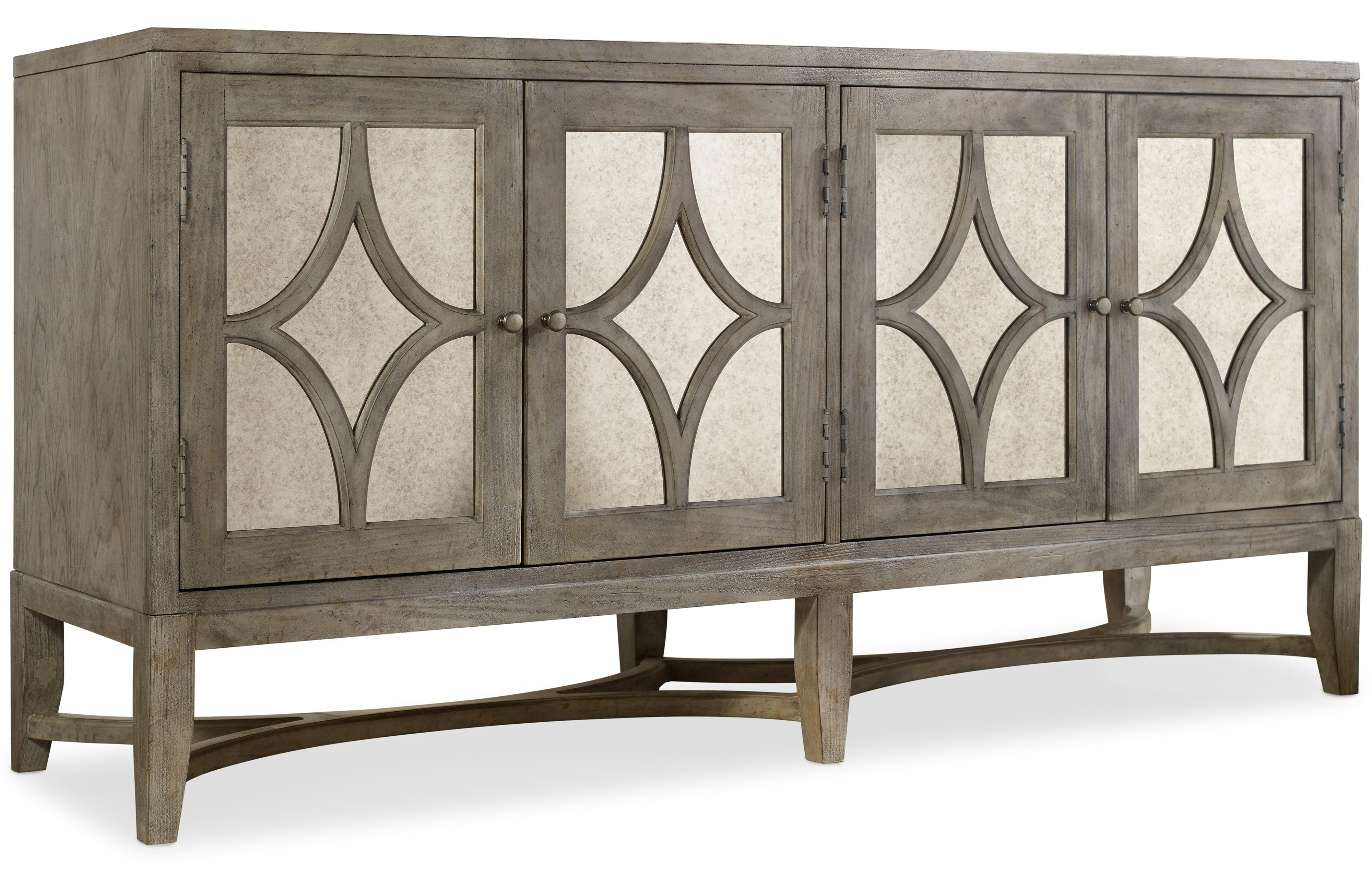Melange Diamante Console by Hooker Furniture at Miller Waldrop Furniture and Decor