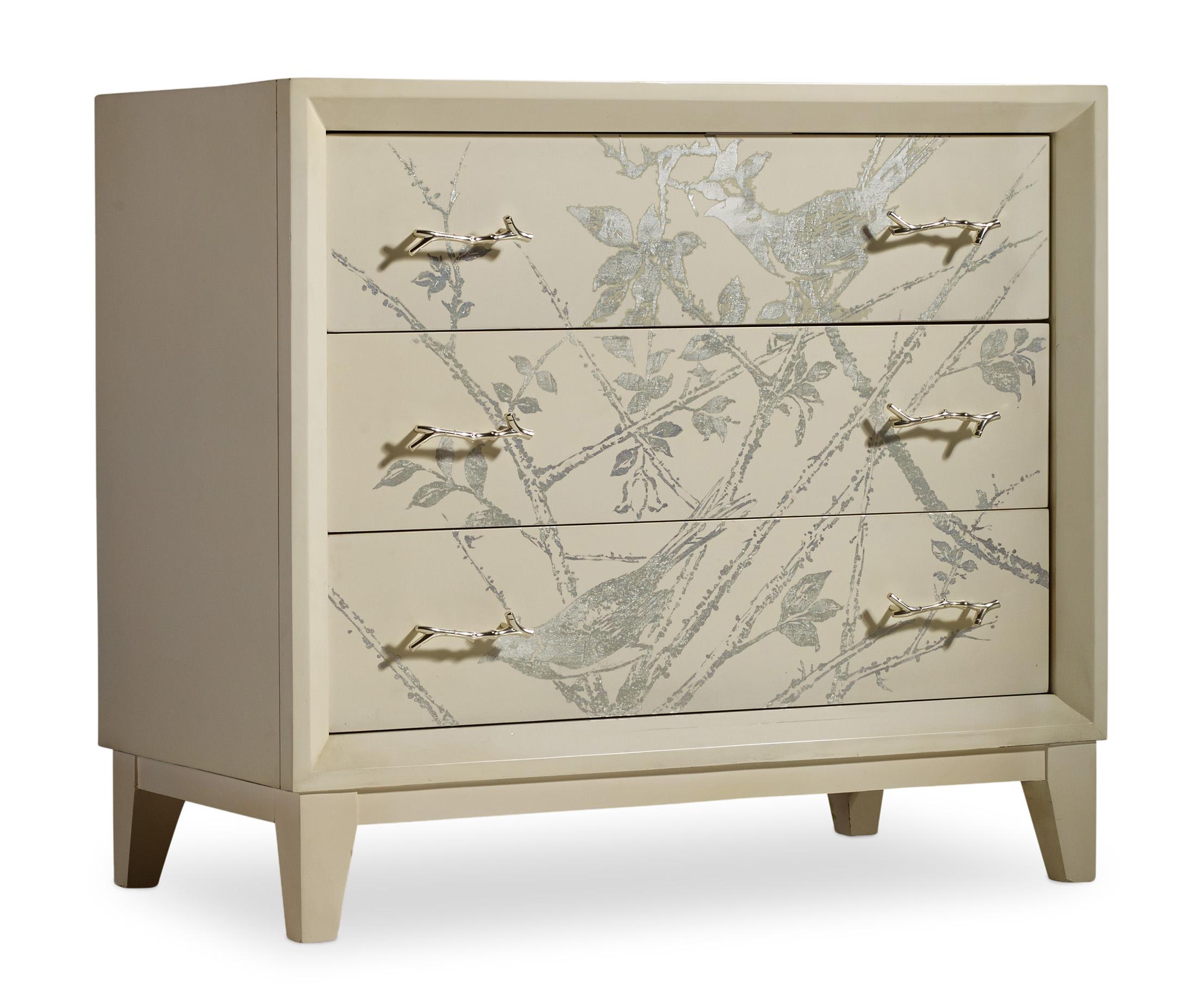 Melange Silver Bird Chest by Hooker Furniture at Zak's Home