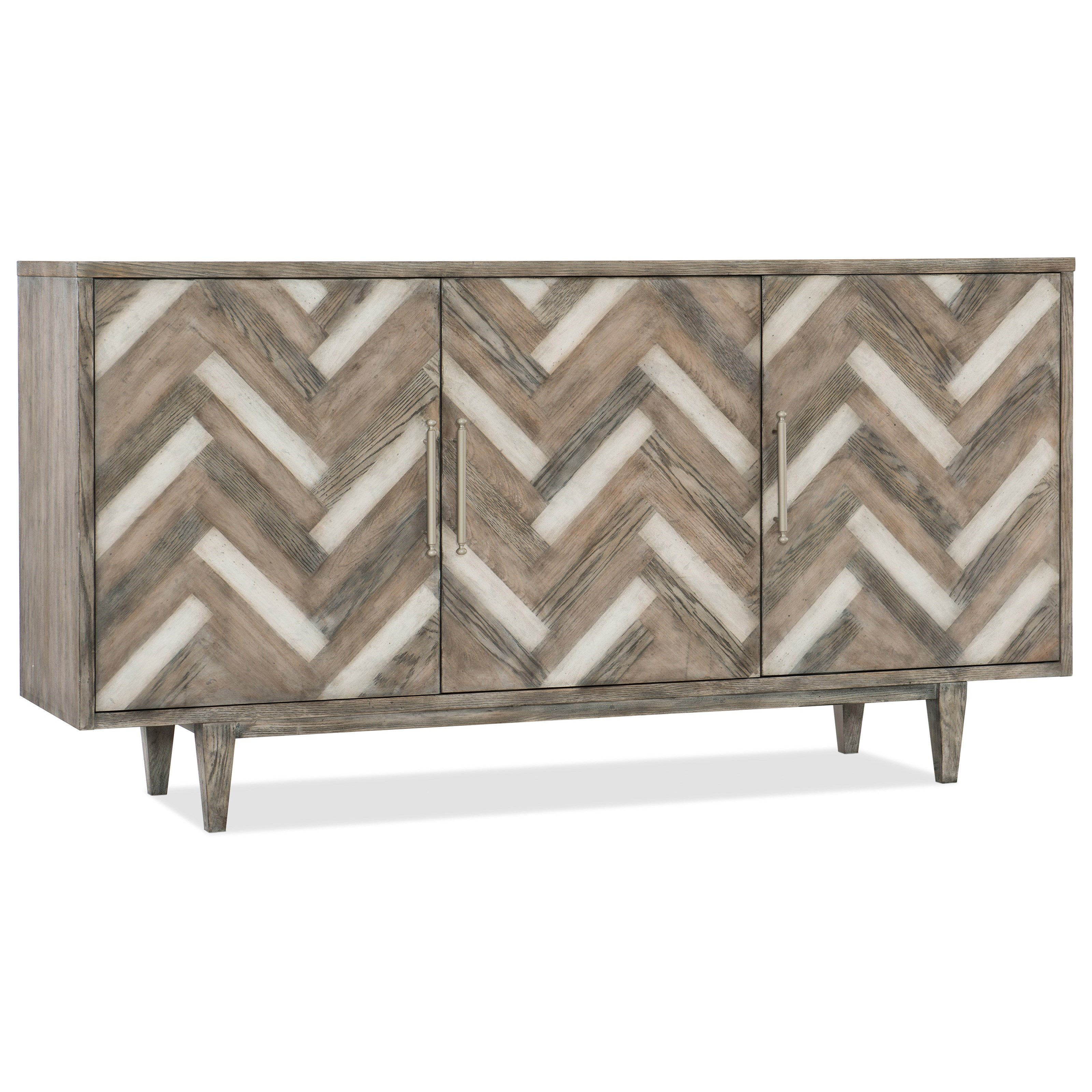 Melange Three Door Sideboard by Hooker Furniture at Mueller Furniture
