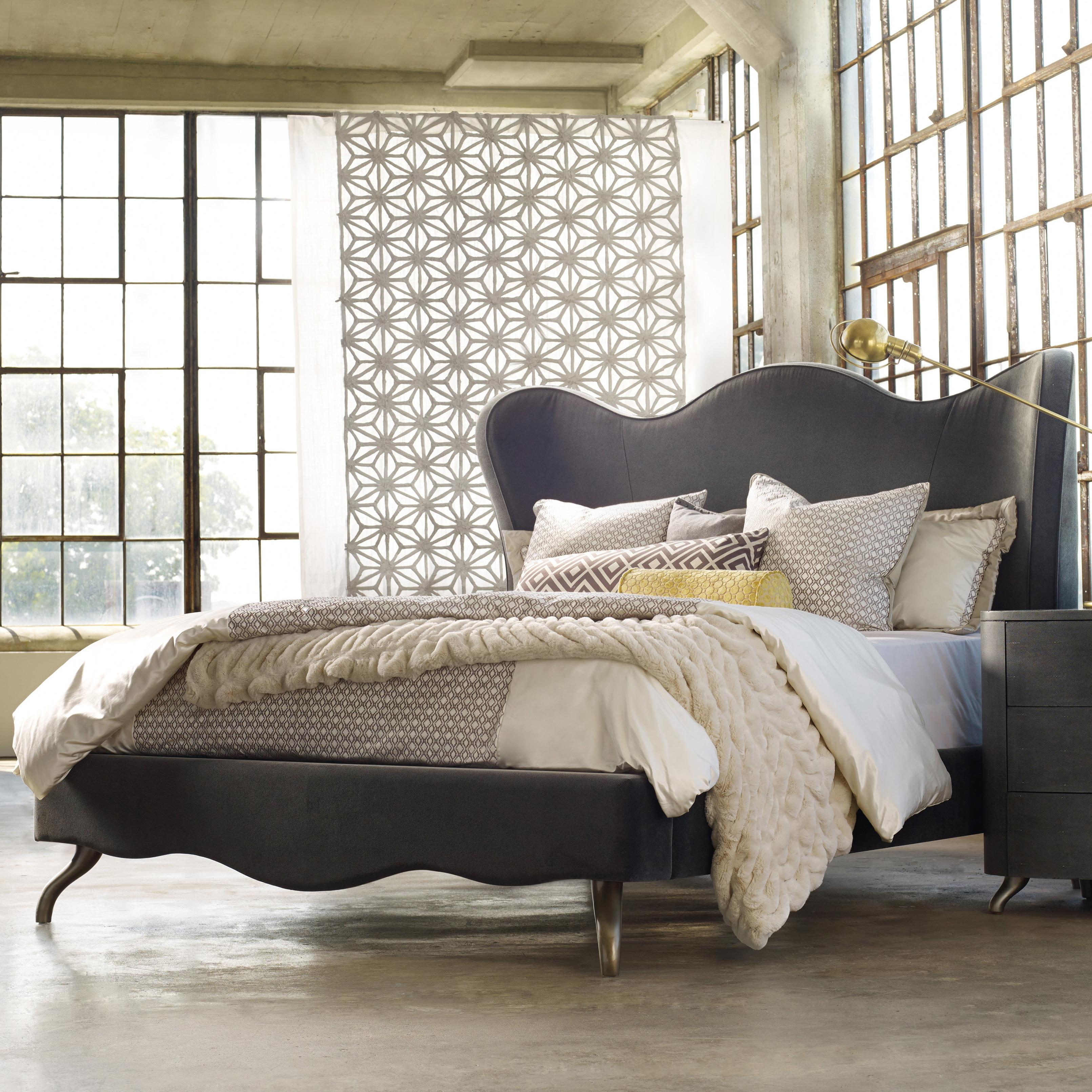 Melange Queen Lana Upholstered Bed by Hooker Furniture at Zak's Home
