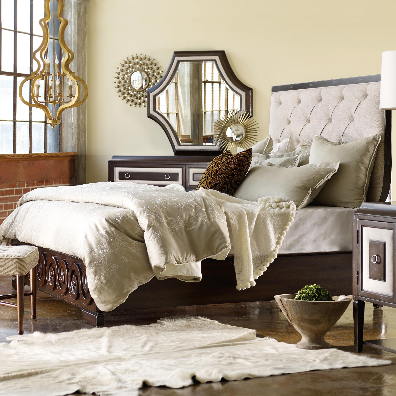 Melange King Albion Tufted Bed by Hooker Furniture at Goods Furniture