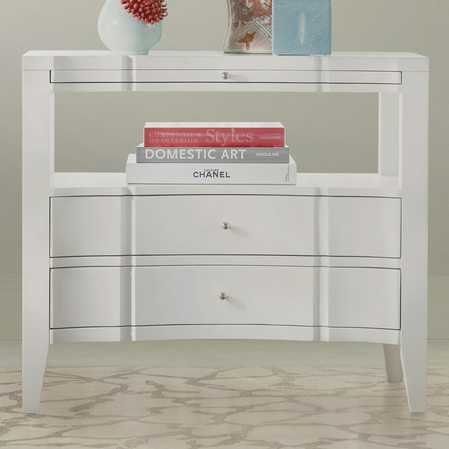 Melange Quatrefoil Bedside Chest by Hooker Furniture at Zak's Home