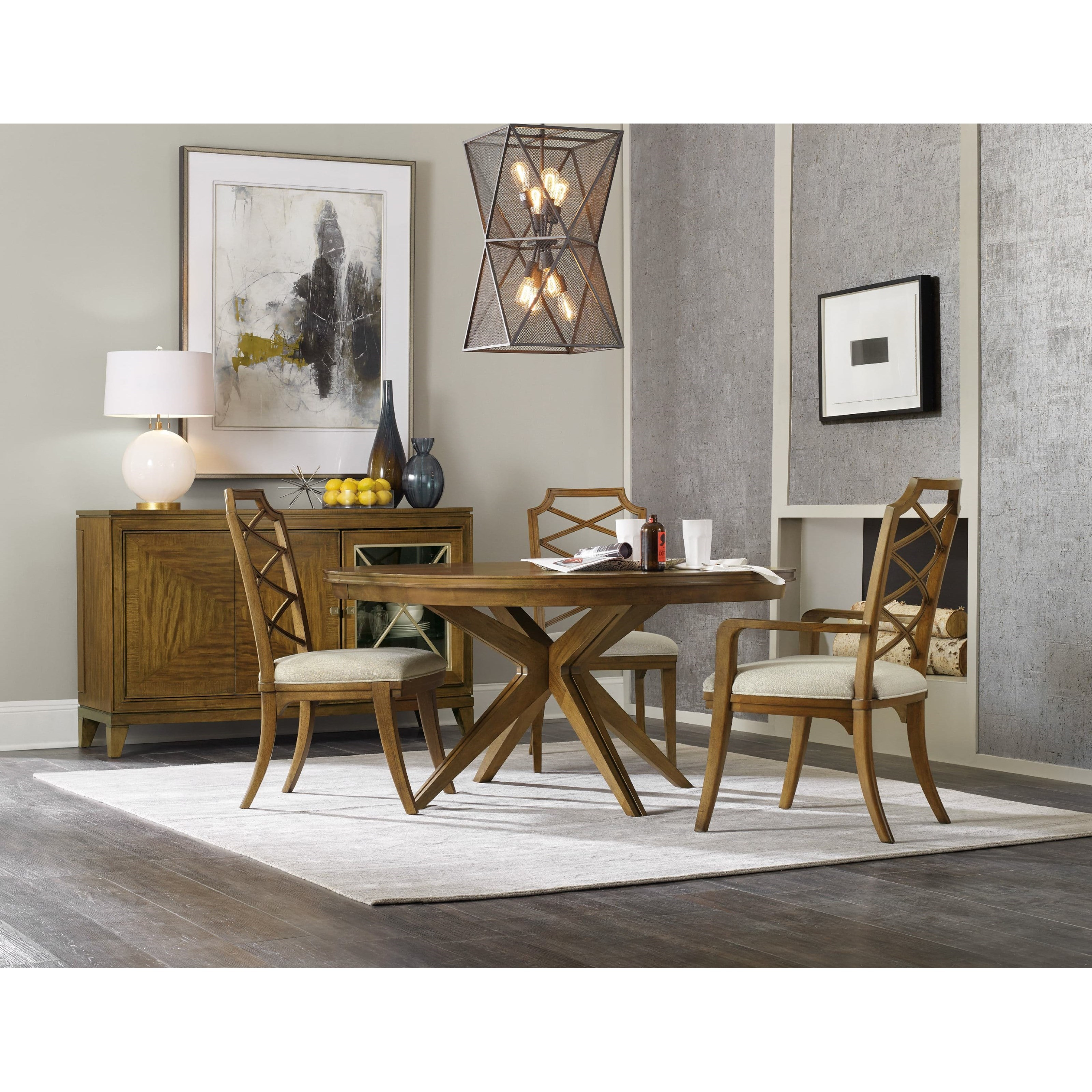 Hooker furniture retropolitan casual dining room group for Casual dining room chairs