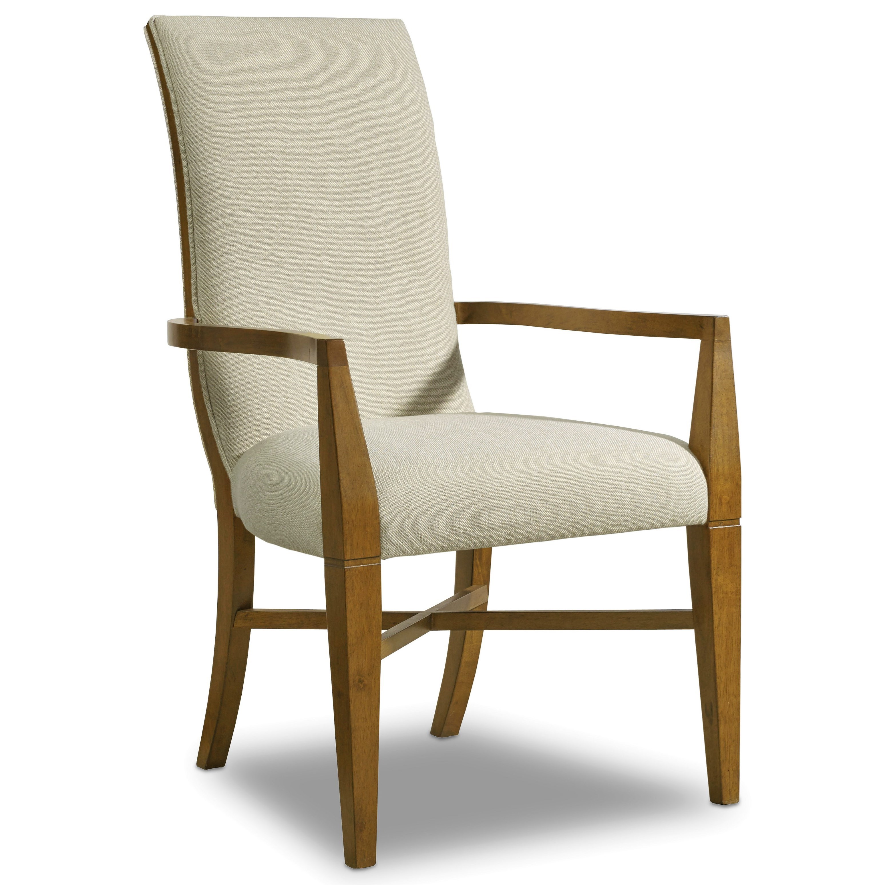 Hooker furniture retropolitan upholstered arm chair with for Arm of chair
