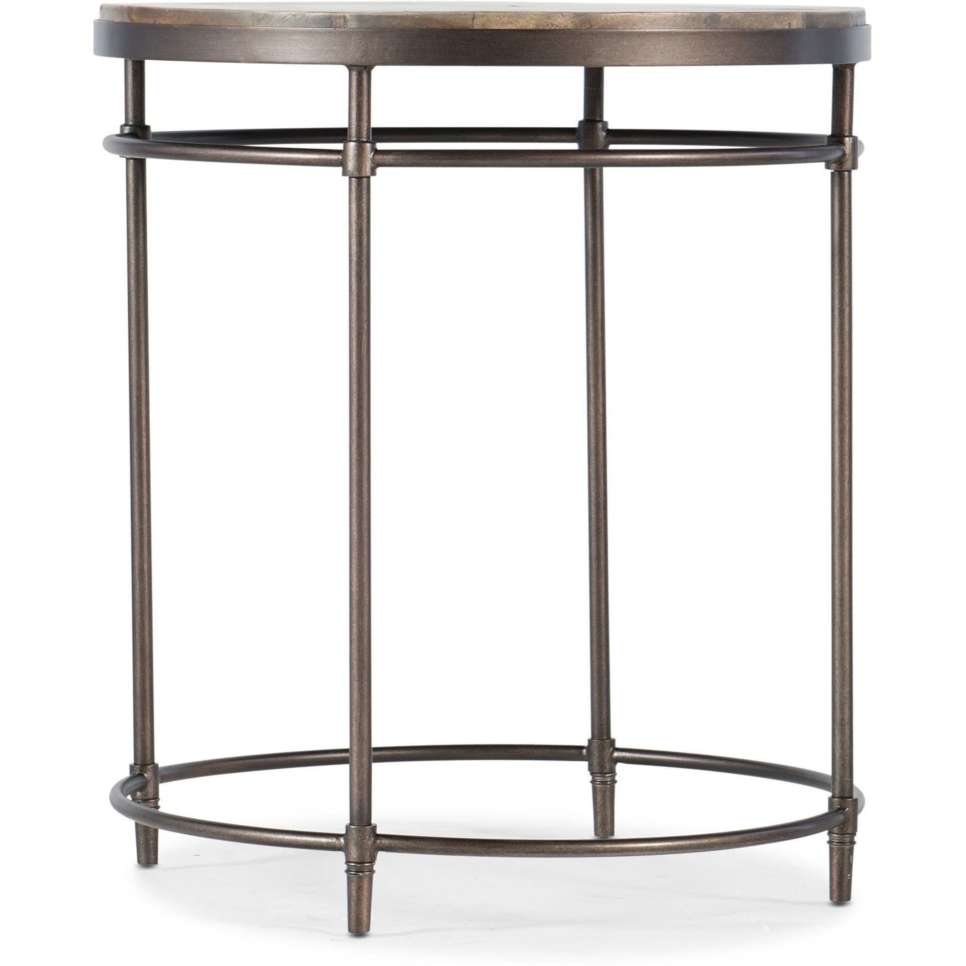 Saint Armand Round End Table by Hooker Furniture at Alison Craig Home Furnishings