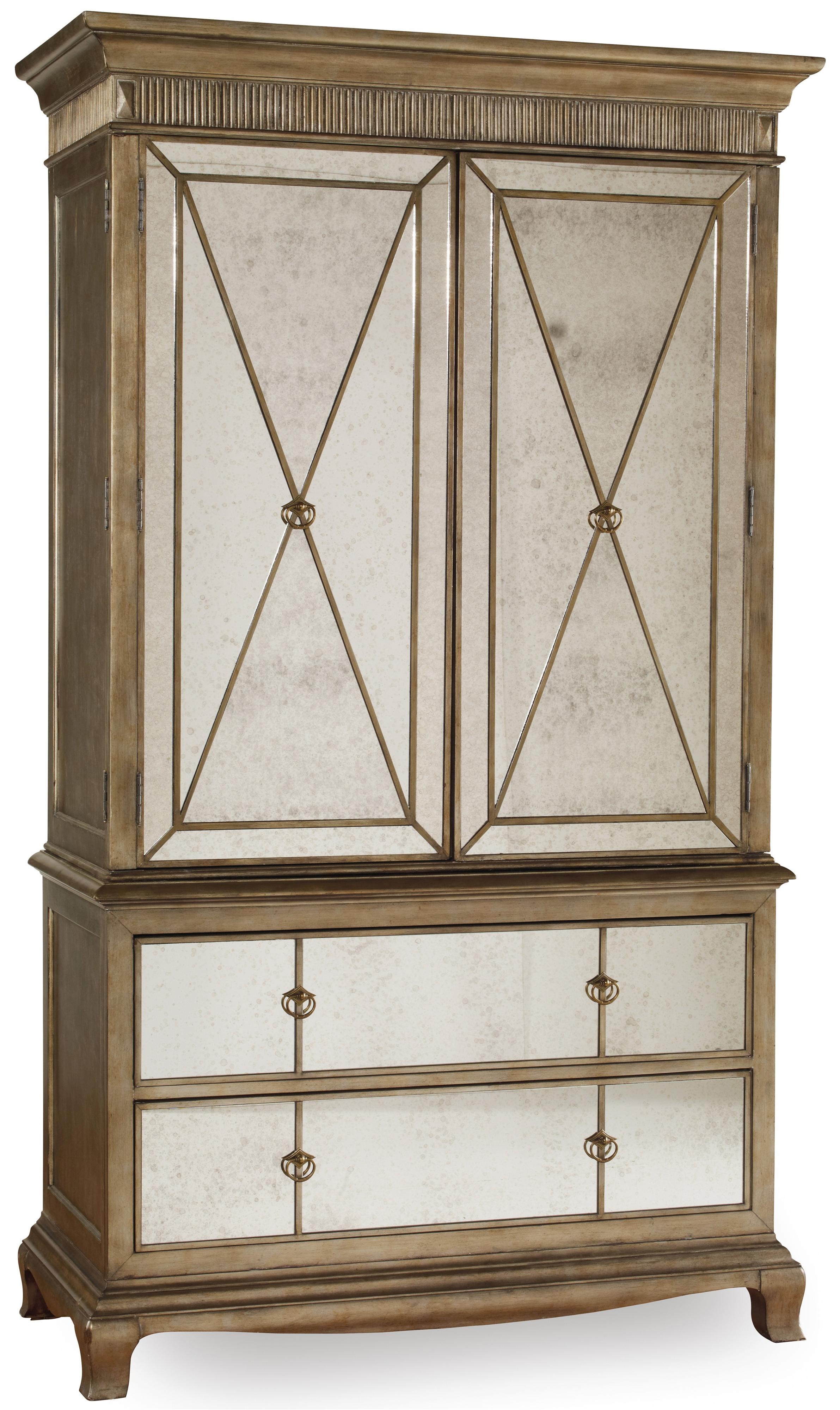 hooker furniture sanctuary two door two drawer armoire. Black Bedroom Furniture Sets. Home Design Ideas