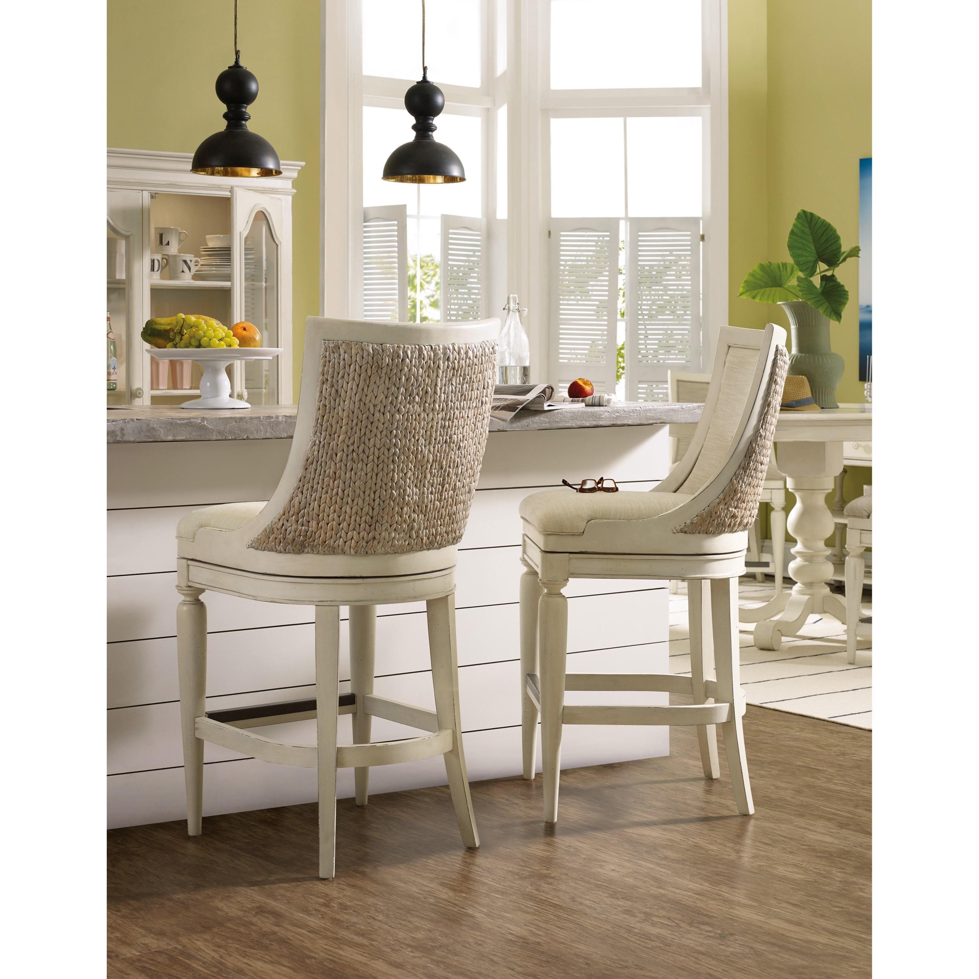 Hooker Furniture Sandcastle Upholstered Barstool With