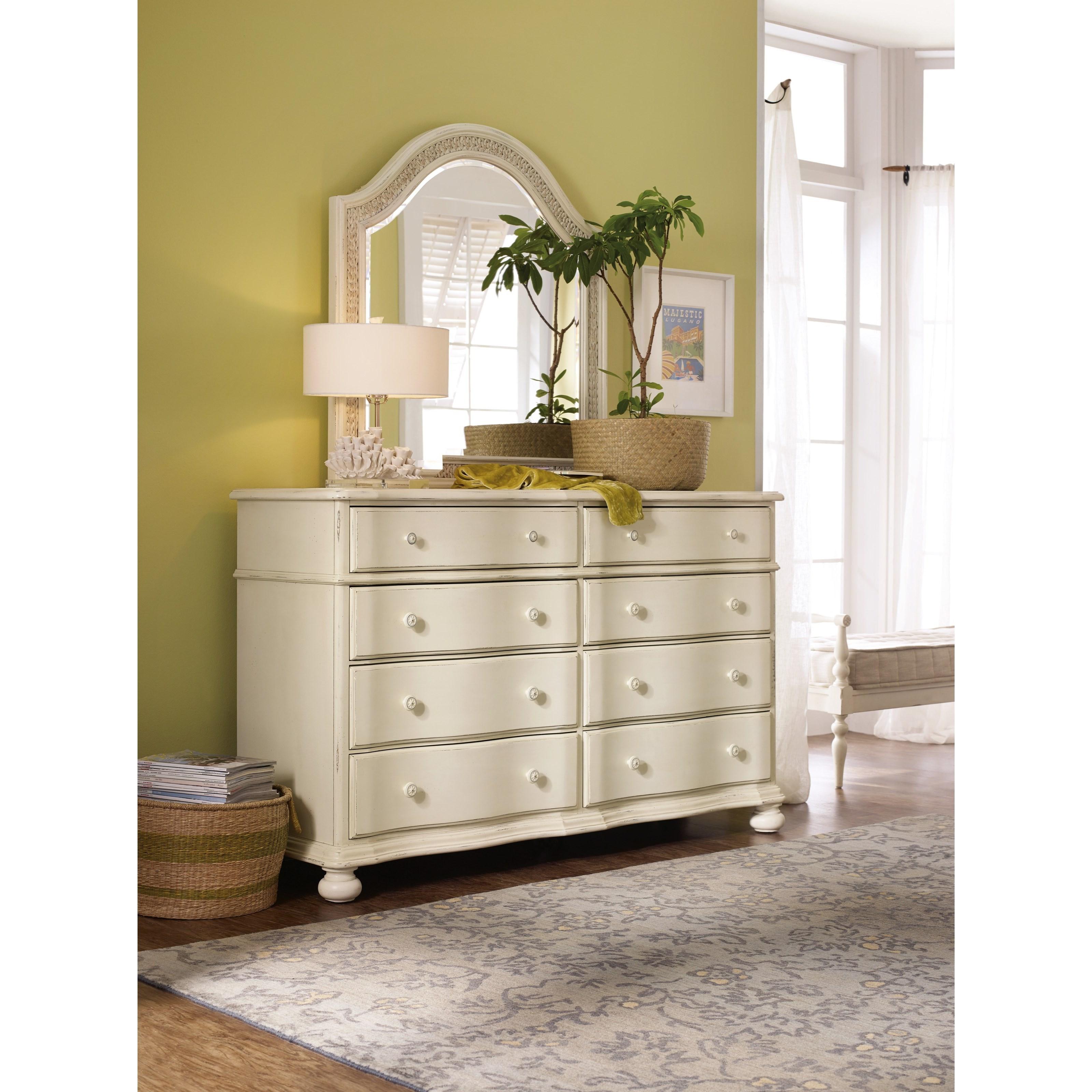 Hooker Furniture Sandcastle 5900 90002 Wh Dresser With 8