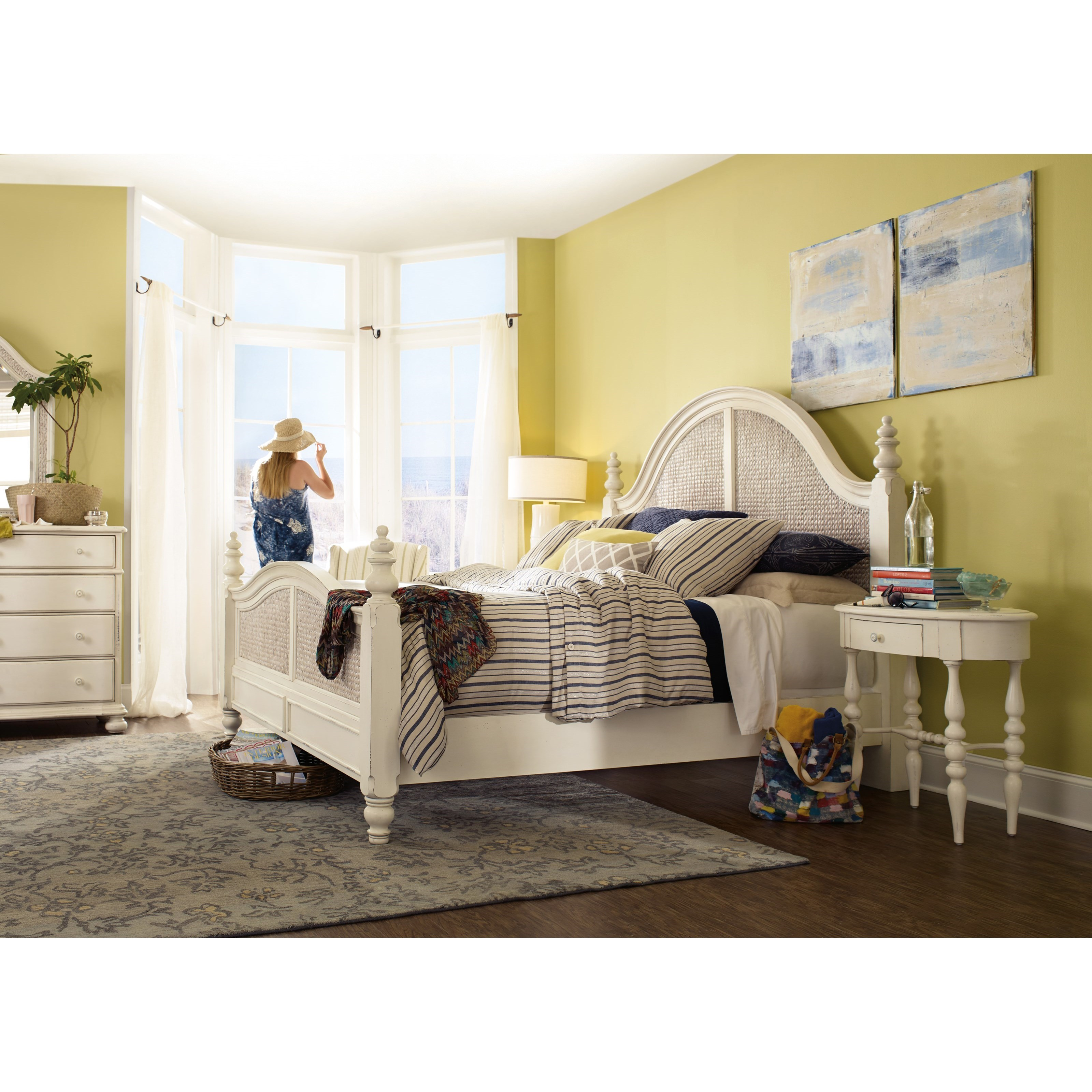 Hooker Furniture Sandcastle Queen Sea Grass Woven Panel Bed Jacksonville Furniture Mart