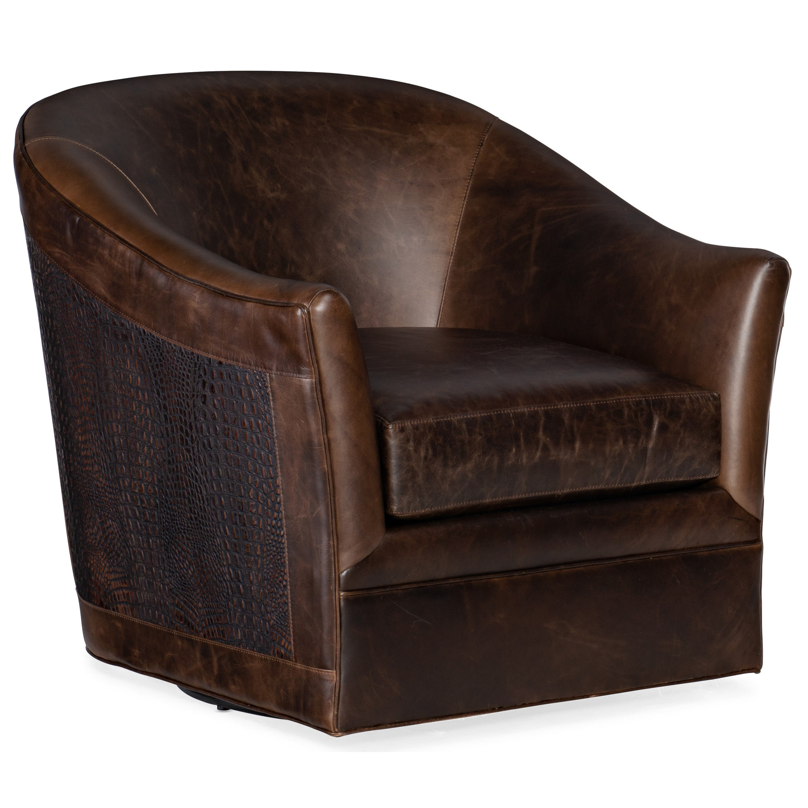 Club Chairs Morrison Swivel Club Chair by Hooker Furniture at Alison Craig Home Furnishings