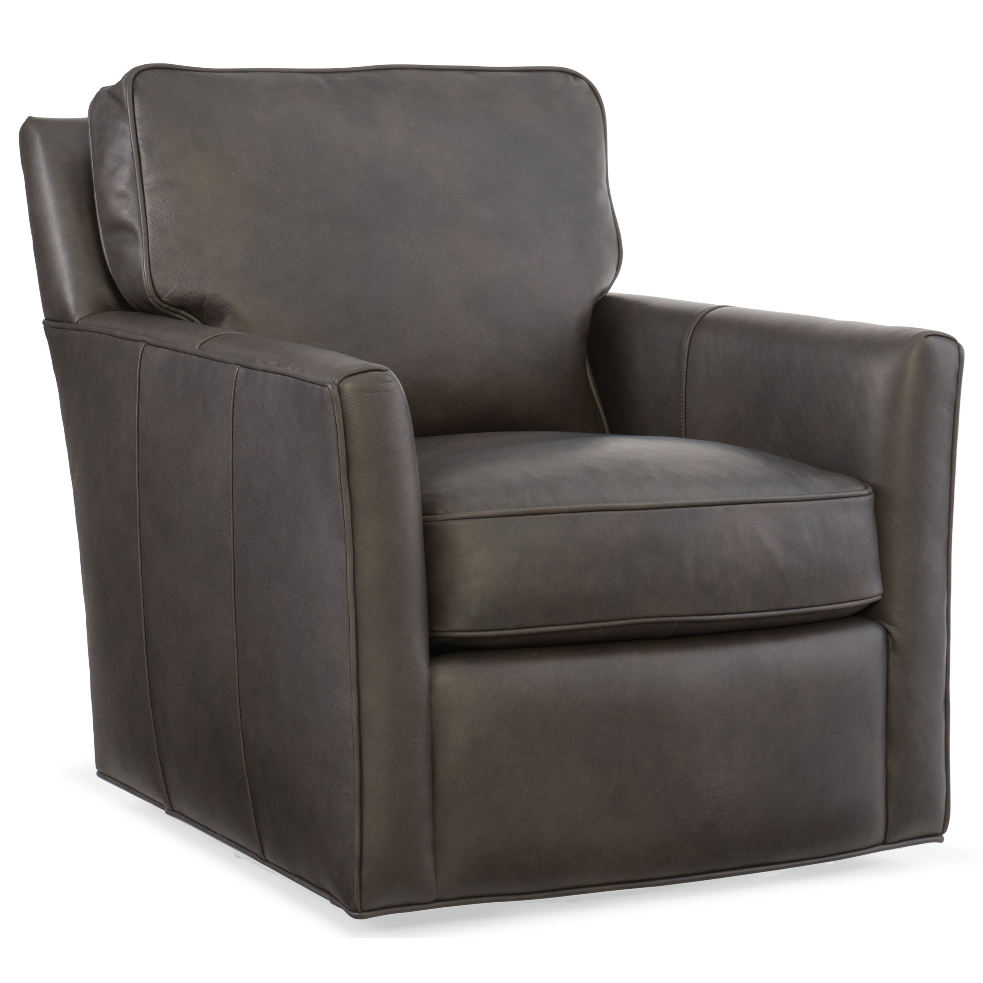 Club Chairs Mandy Swivel Club Chair by Hooker Furniture at Miller Waldrop Furniture and Decor