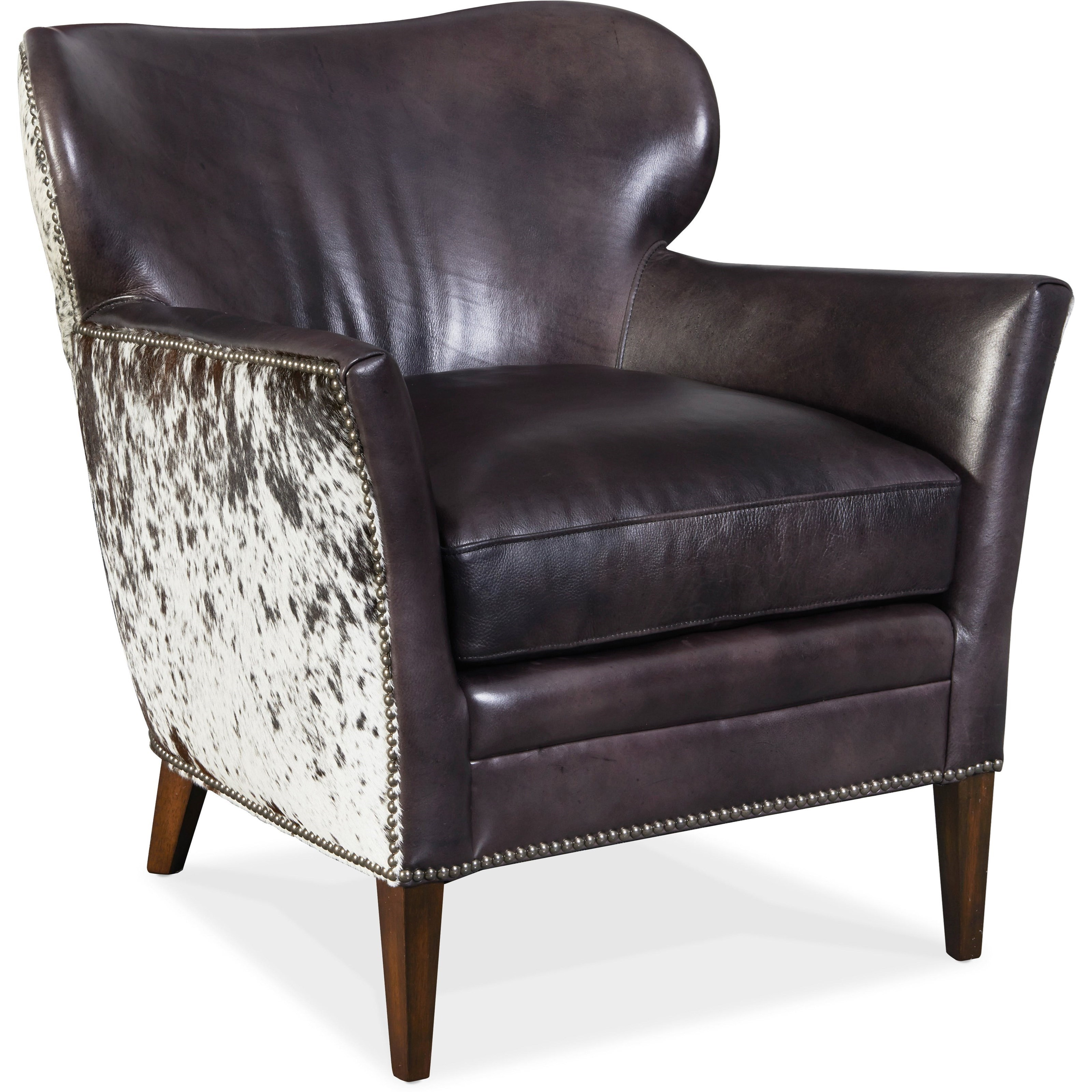 Club Chairs Kato Leather Club Chair by Hooker Furniture at Baer's Furniture