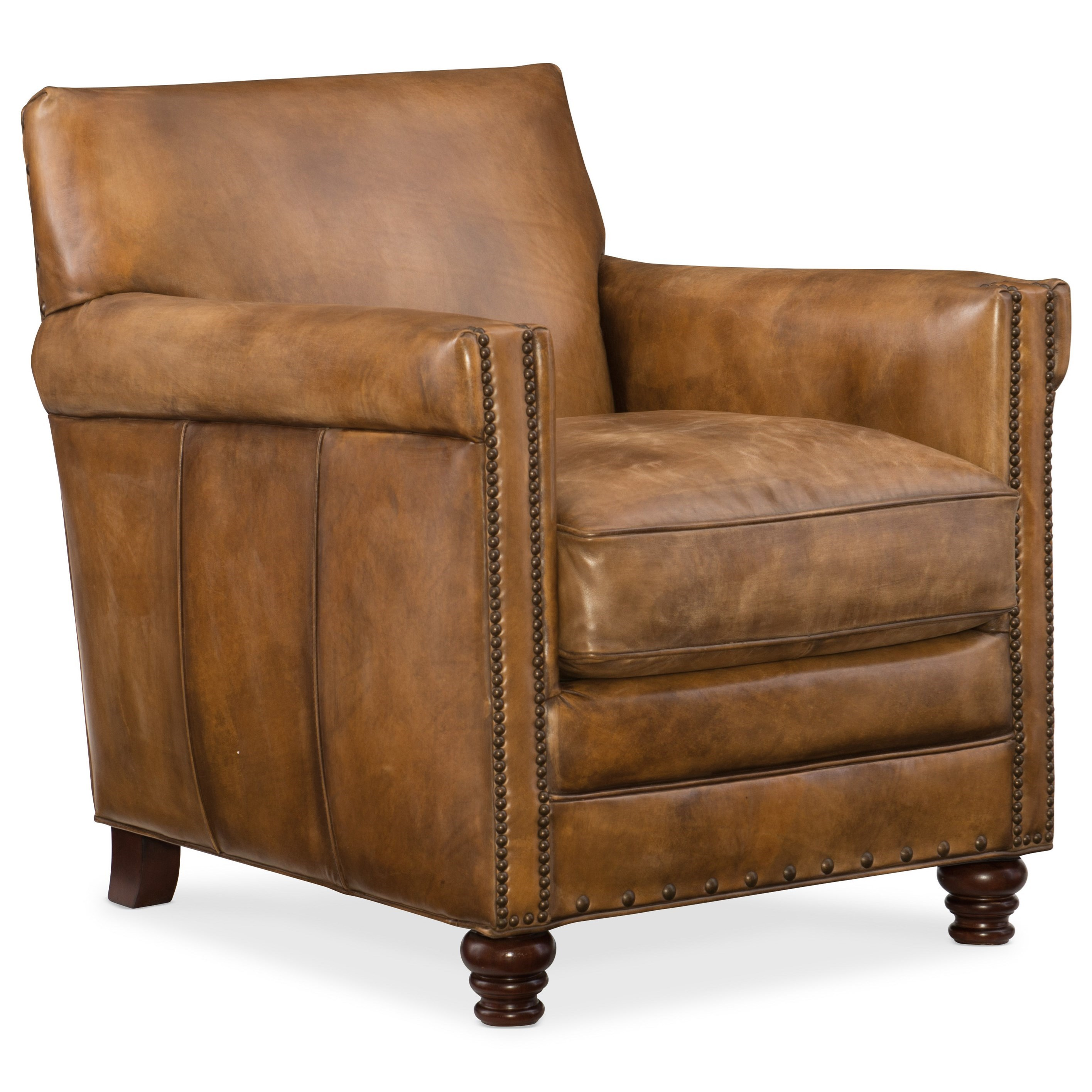 Hamilton home club chairs potter leather club chair with for Small club chairs upholstered