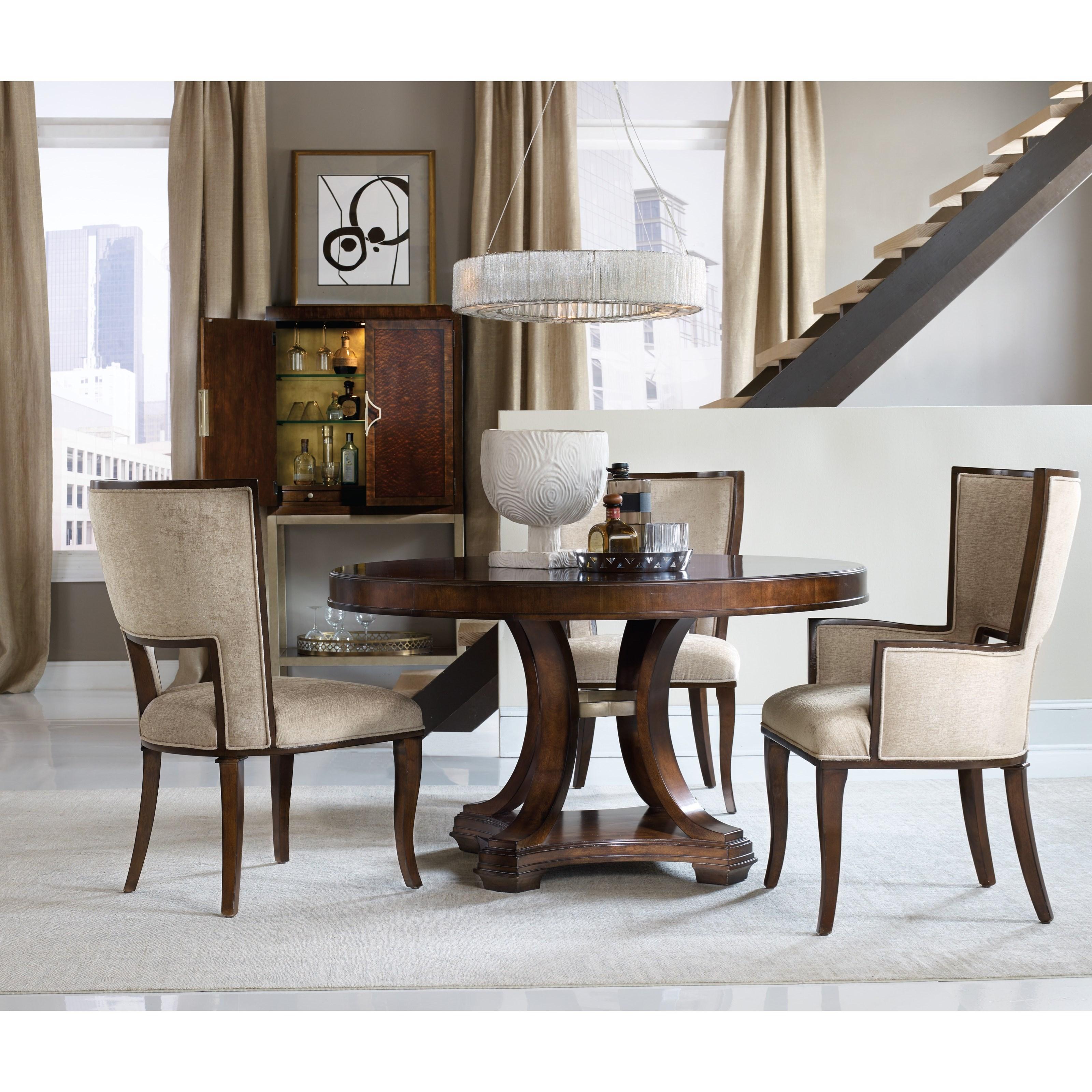 hooker furniture skyline round dining table olinde 39 s furniture dining tables. Black Bedroom Furniture Sets. Home Design Ideas