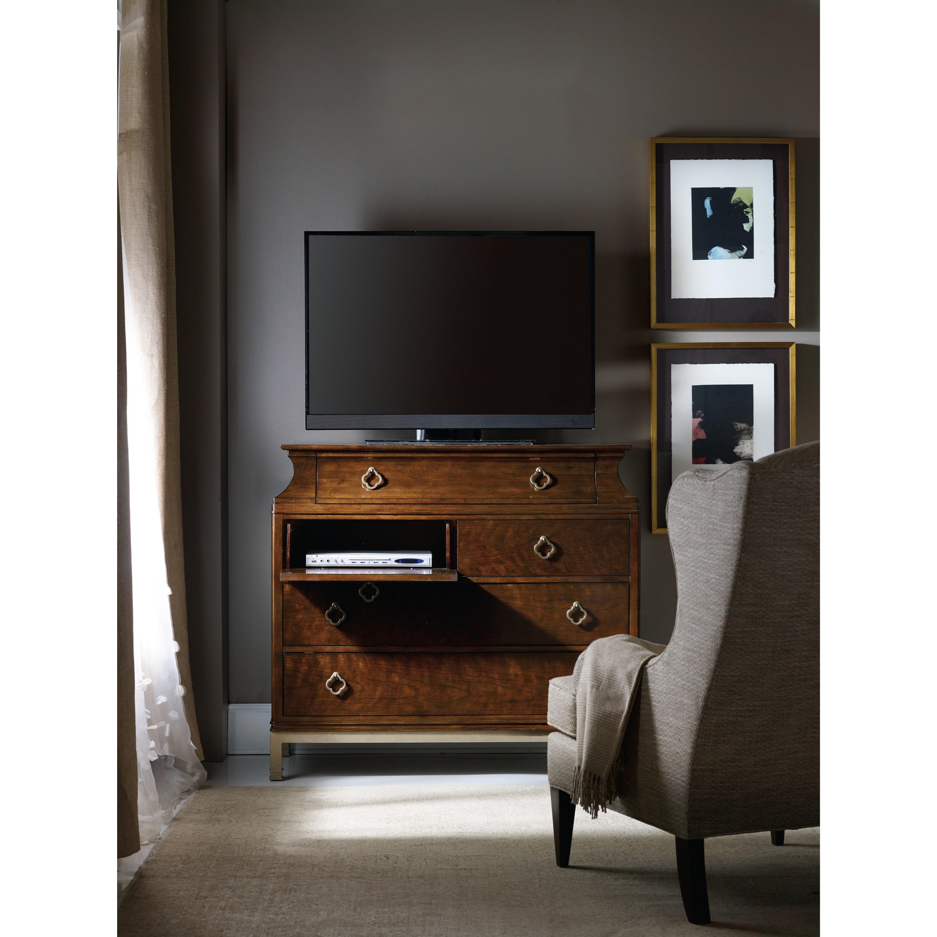 Hooker Furniture Skyline Bureau With Drop Front Media Drawers Stoney Creek Furniture Media