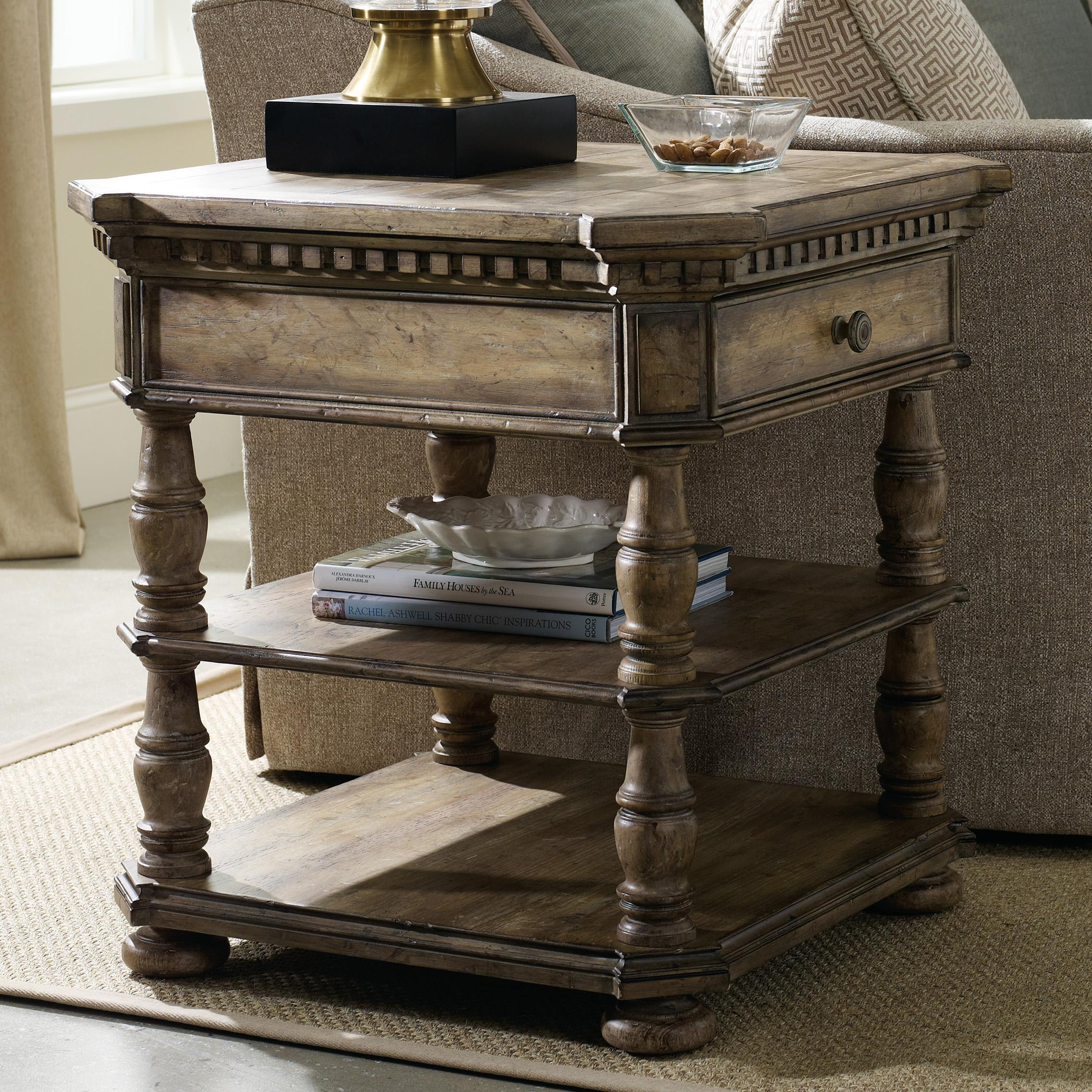 Hooker Furniture Sorella Square End Table With 1 Drawer